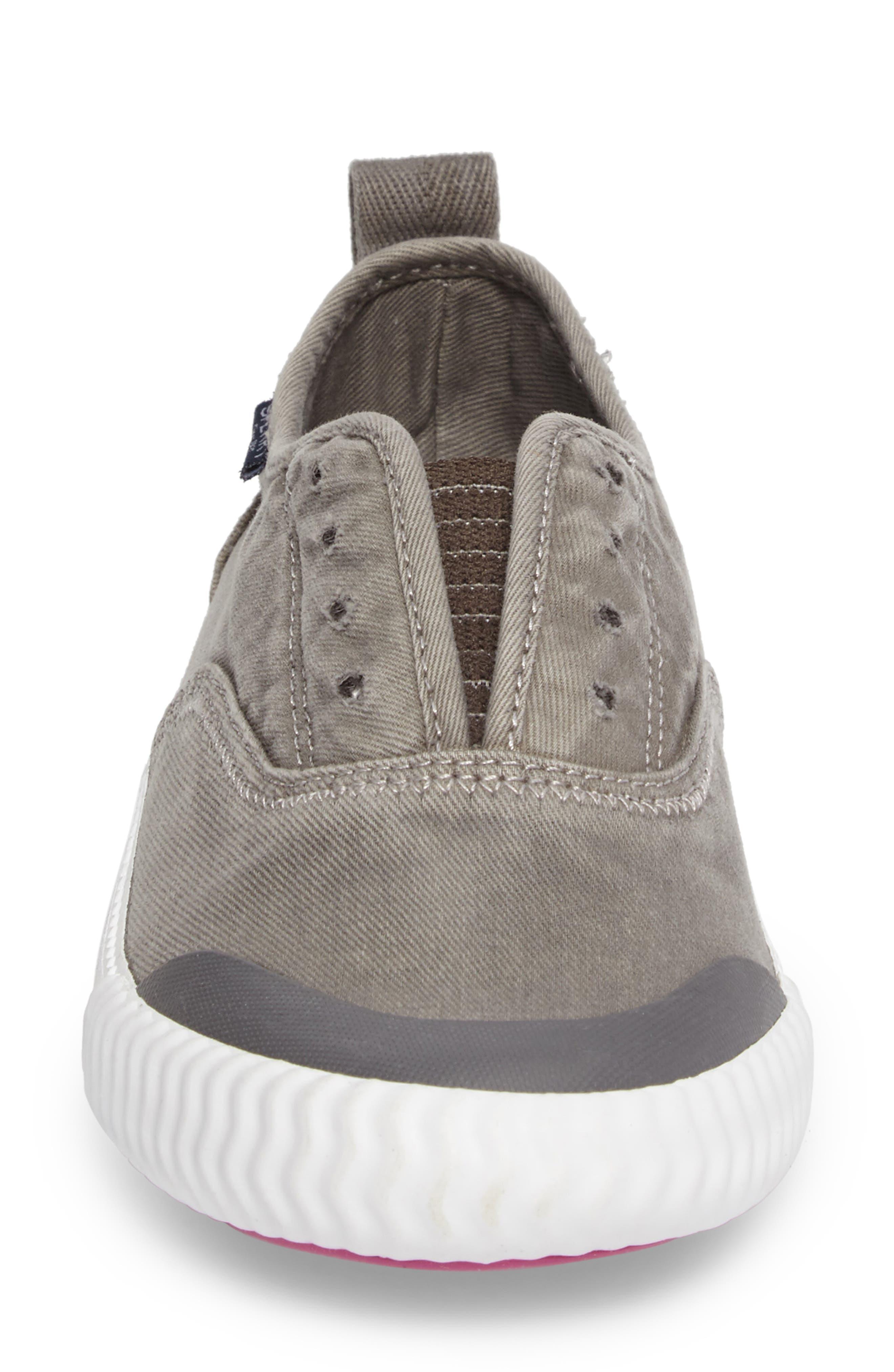 Sayel Slip-On Sneaker,                             Alternate thumbnail 4, color,                             GREY FABRIC