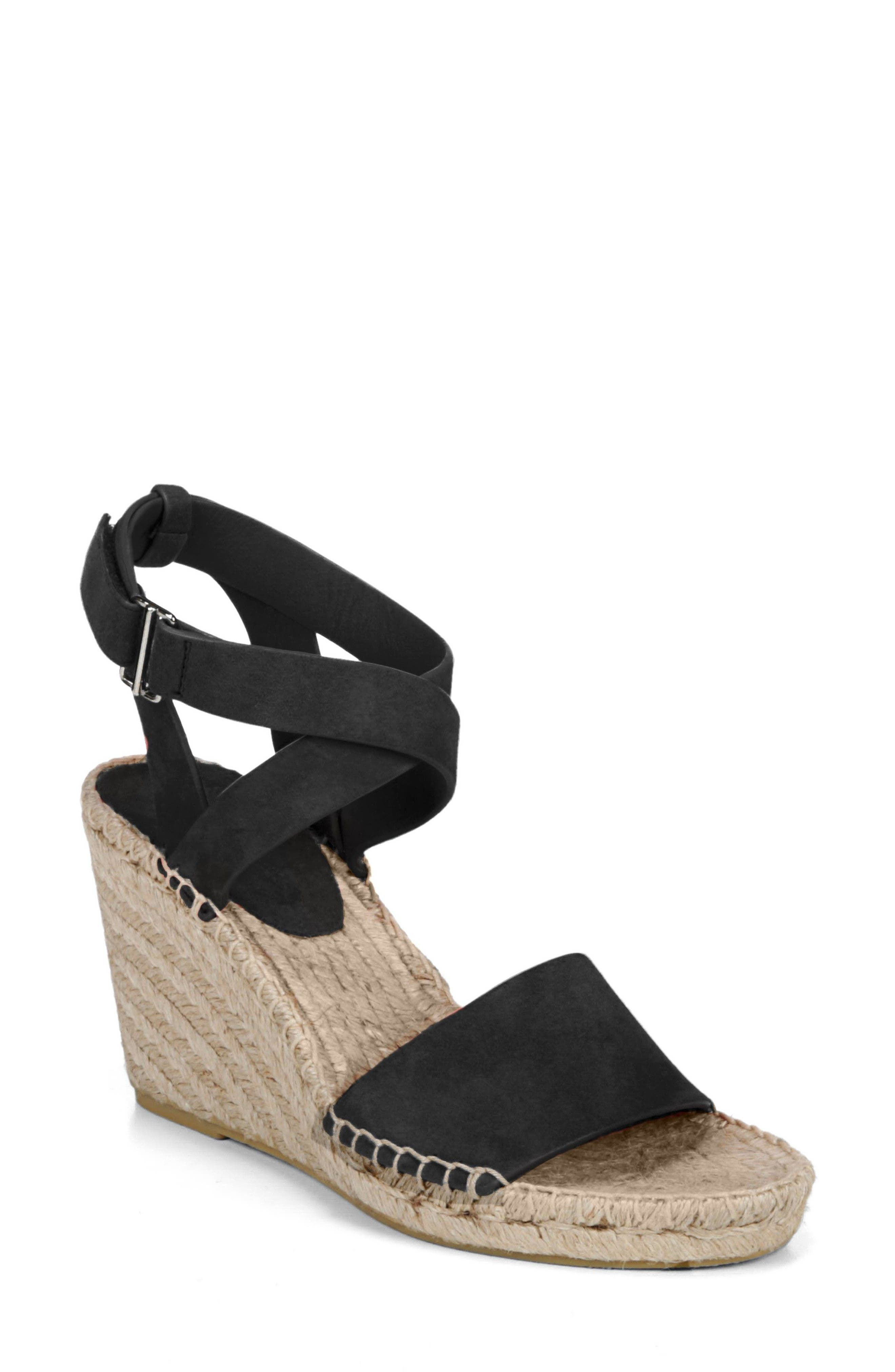 VIA SPIGA Nevada Espadrille Wedge Sandal, Main, color, 002