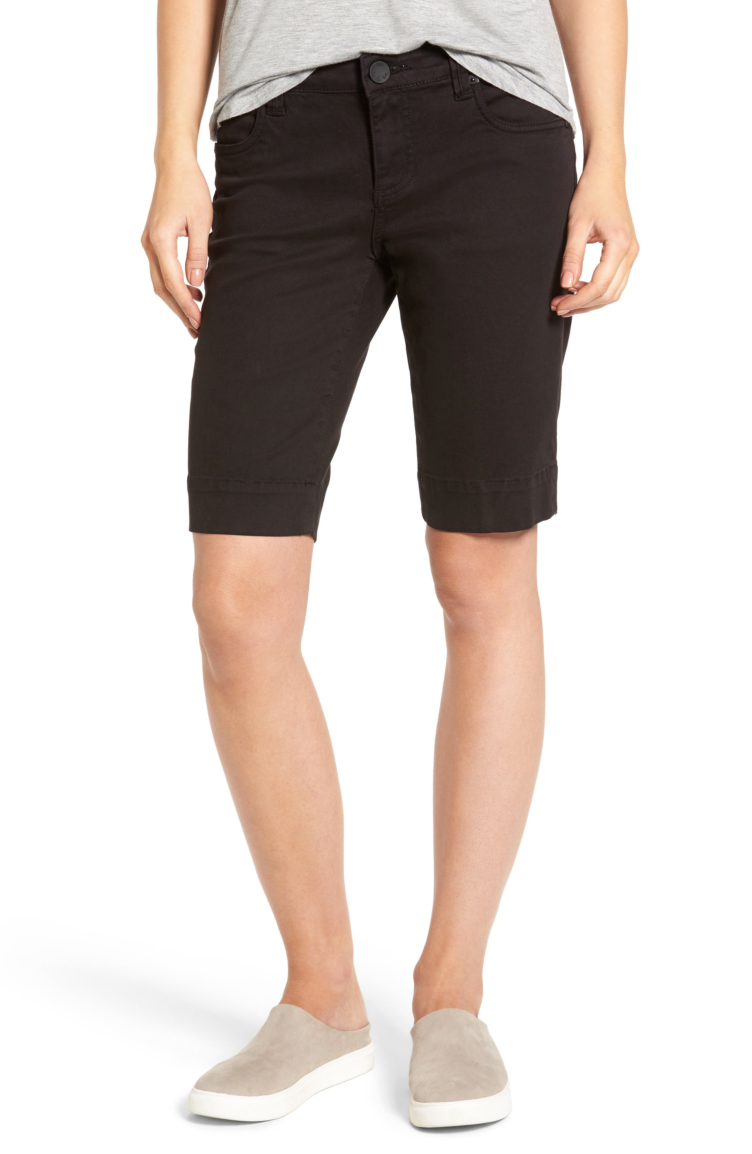 'Natalie' Twill Bermuda Shorts,                             Alternate thumbnail 2, color,                             001