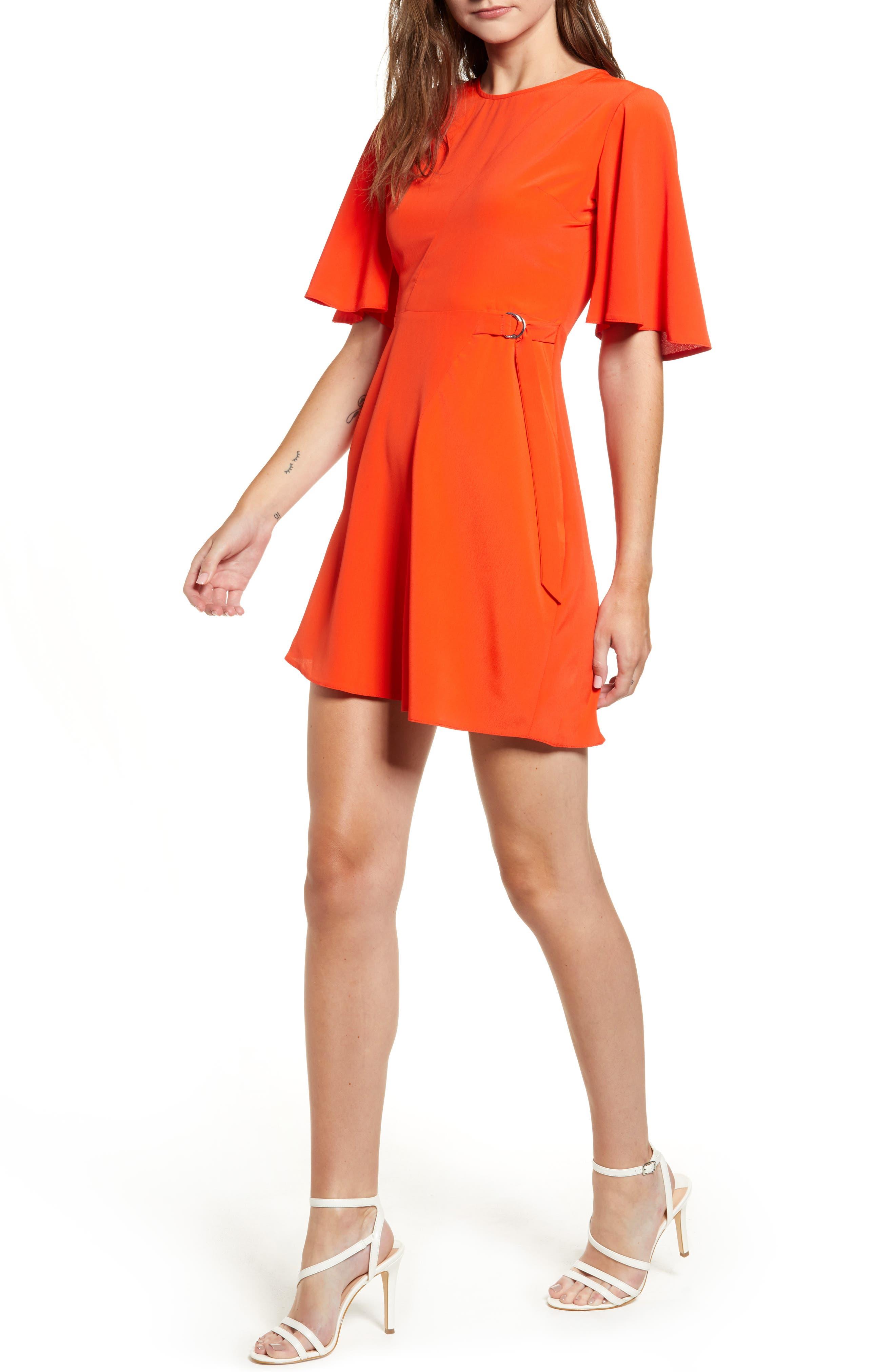 Cutabout Minidress,                         Main,                         color, ORANGE