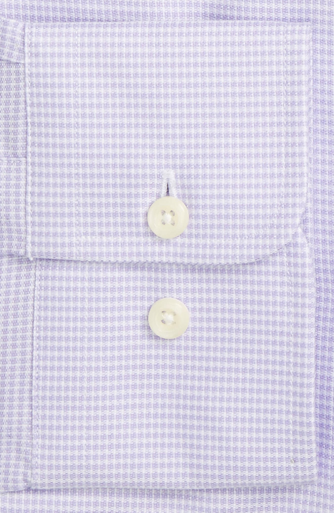 Trim Fit Houndstooth Dress Shirt,                             Alternate thumbnail 4, color,                             534