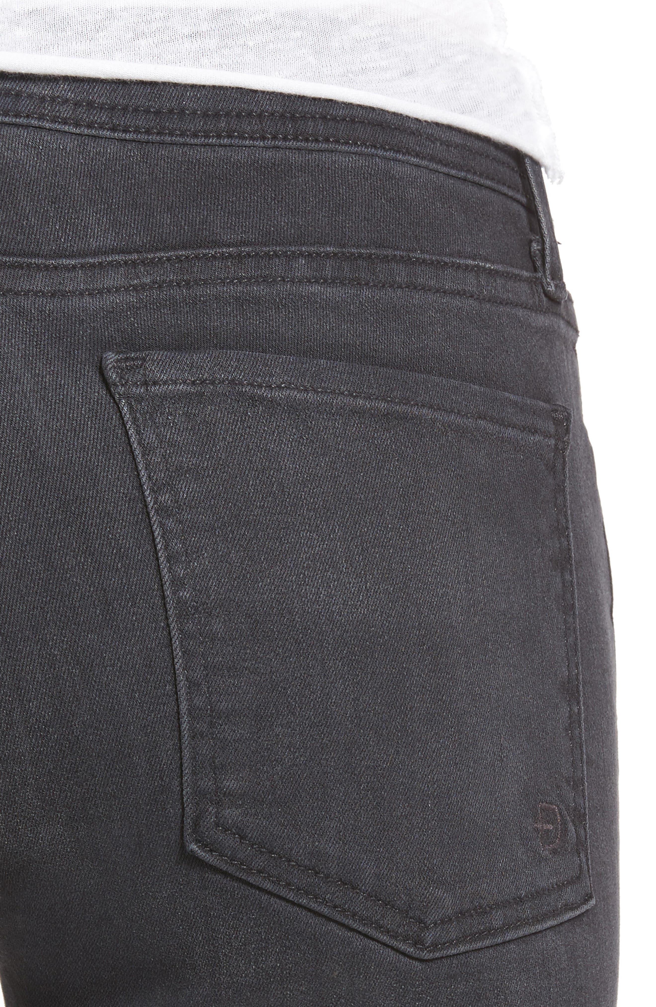 Belvedere Skinny Jeans,                             Alternate thumbnail 4, color,                             001