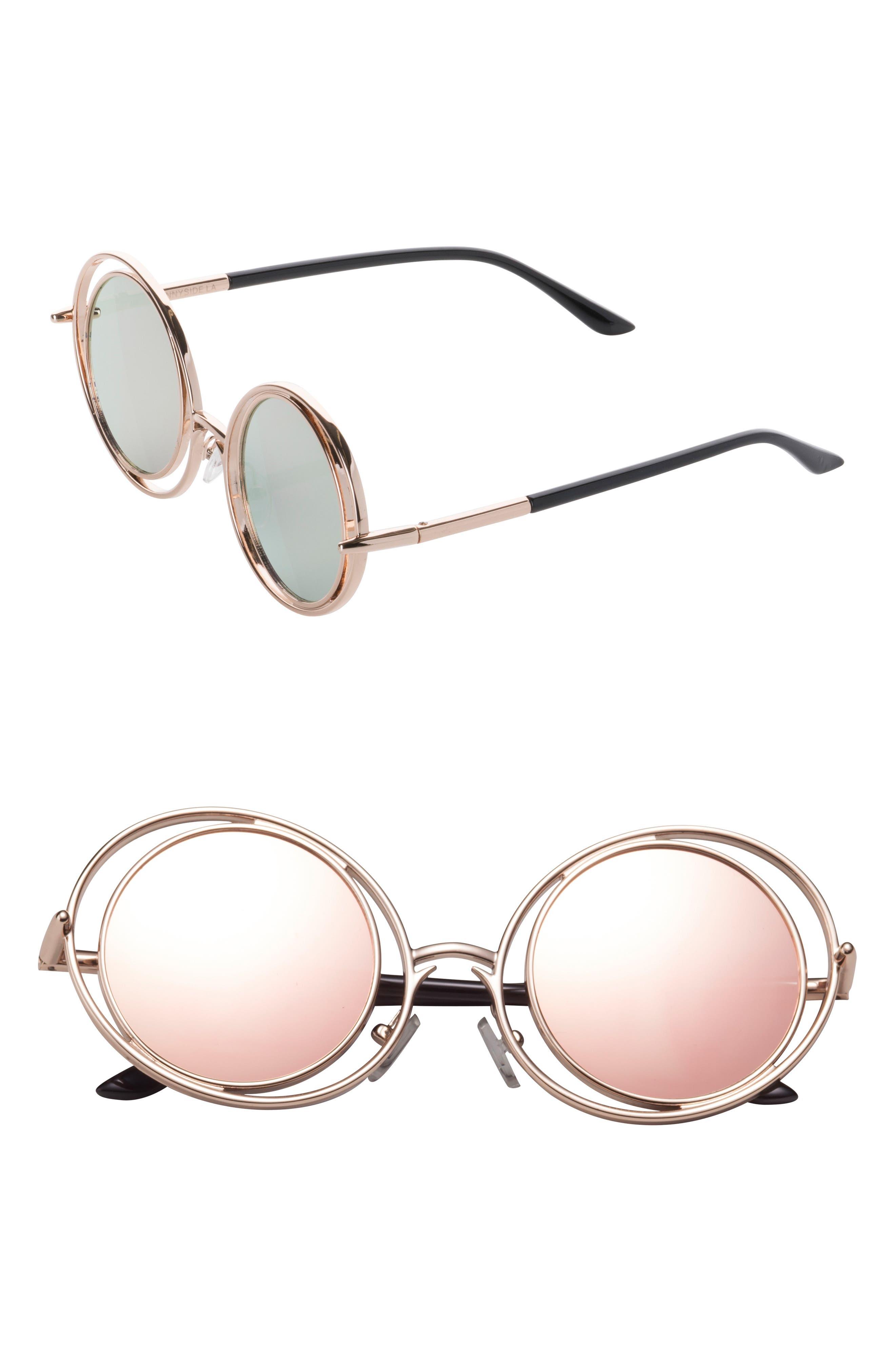 SUNNYSIDE LA,                             55mm Round Sunglasses,                             Main thumbnail 1, color,                             650