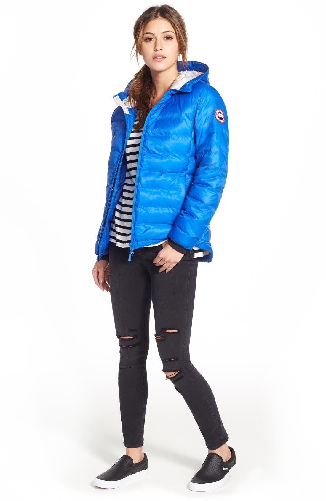 'PBI Camp' Packable Hooded Down Jacket,                             Alternate thumbnail 3, color,                             ROYAL PBI BLUE