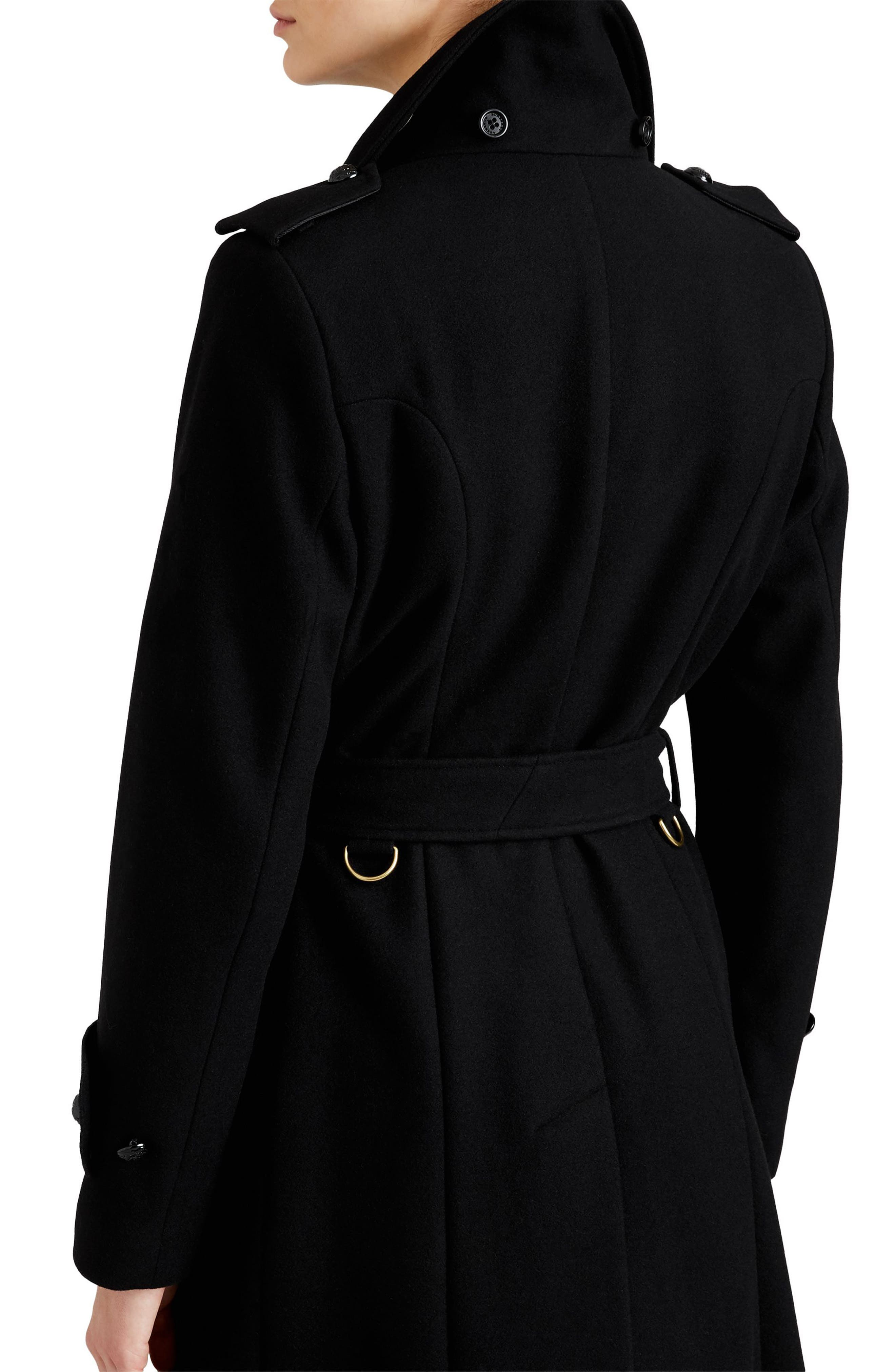Claybrooke Wool Blend Coat with Removable Genuine Fox Fur Trim,                             Alternate thumbnail 2, color,                             001