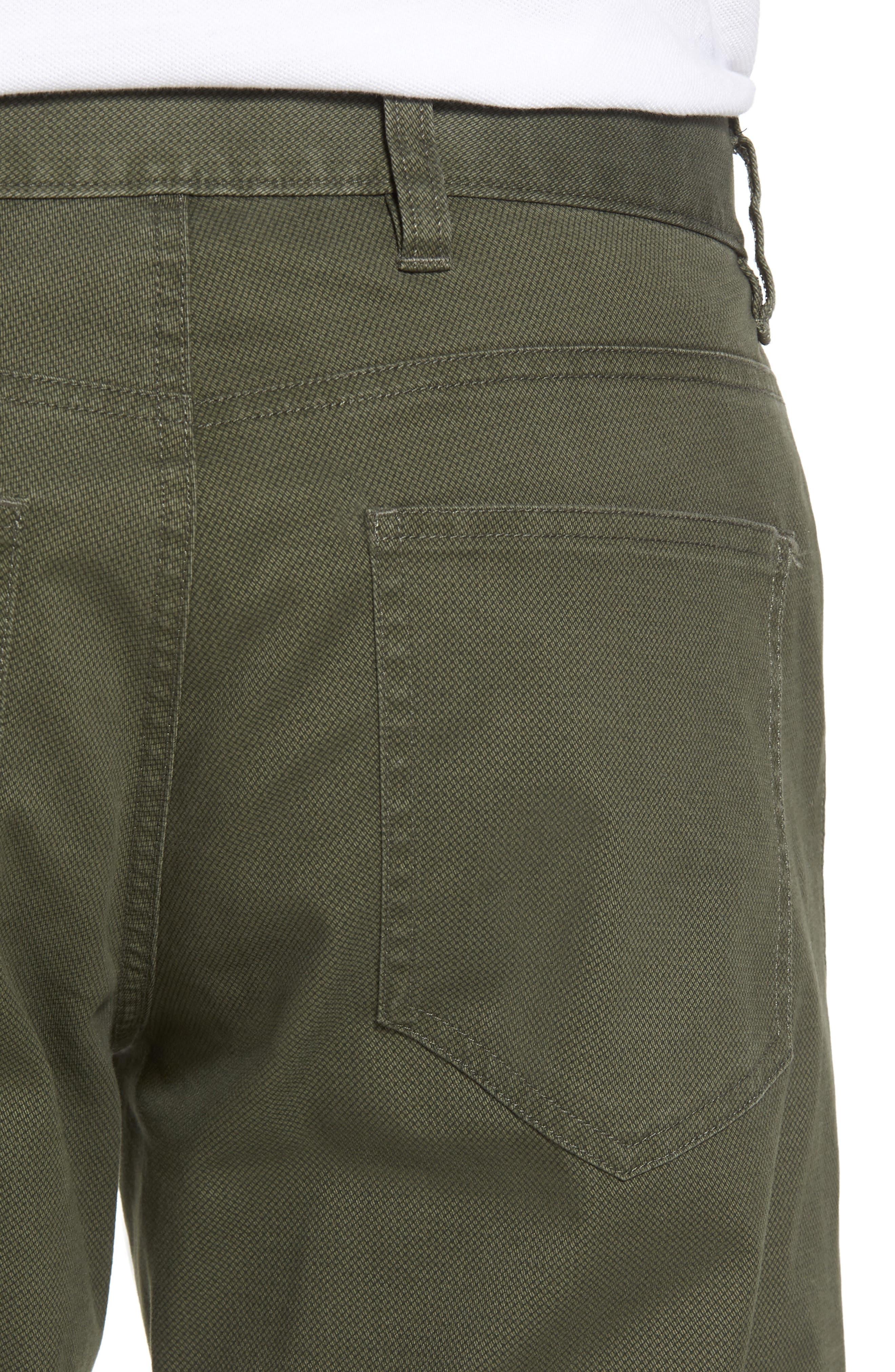 Textured Stretch Cotton Pants,                             Alternate thumbnail 4, color,                             301