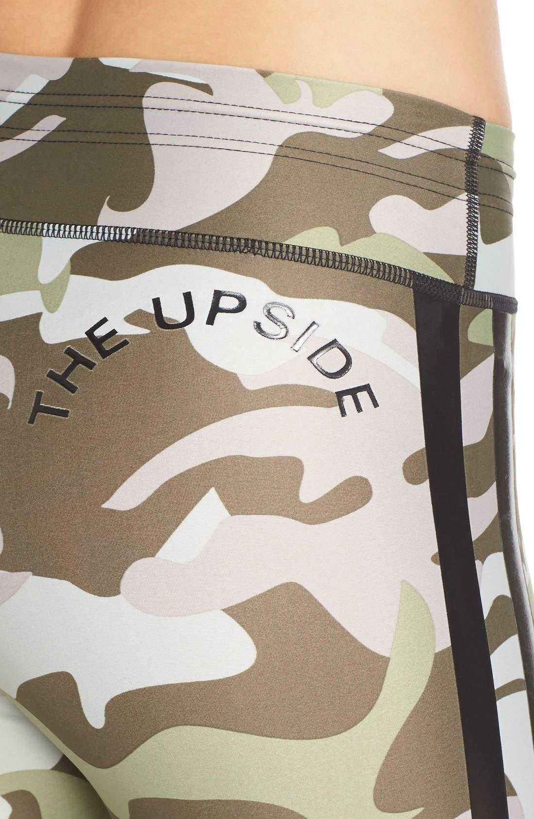 THE UPSIDE,                             'Faded Camo Yoga' Leggings,                             Alternate thumbnail 5, color,                             300