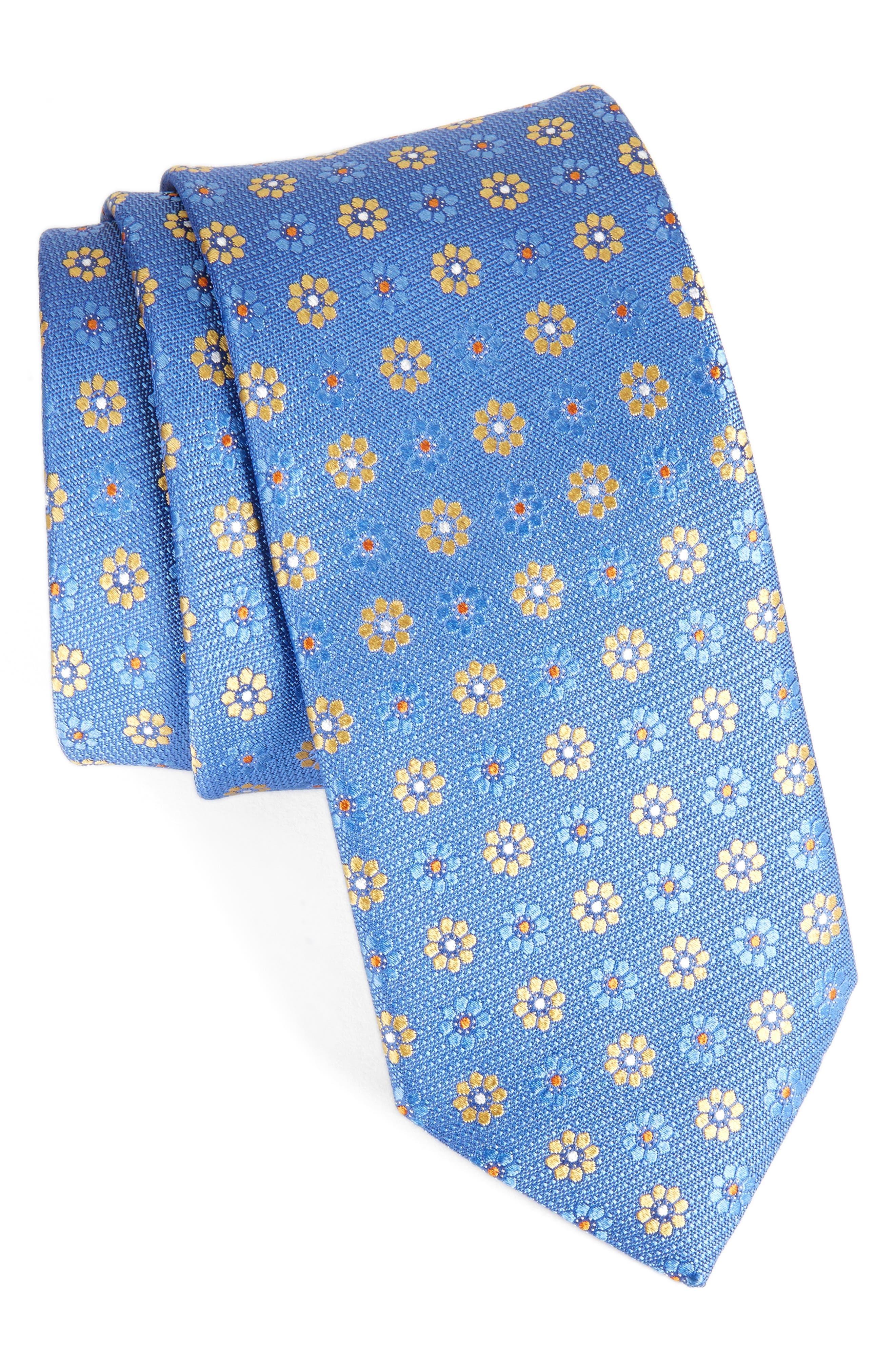 John W. Nordstrom Floral Silk Tie,                             Main thumbnail 3, color,