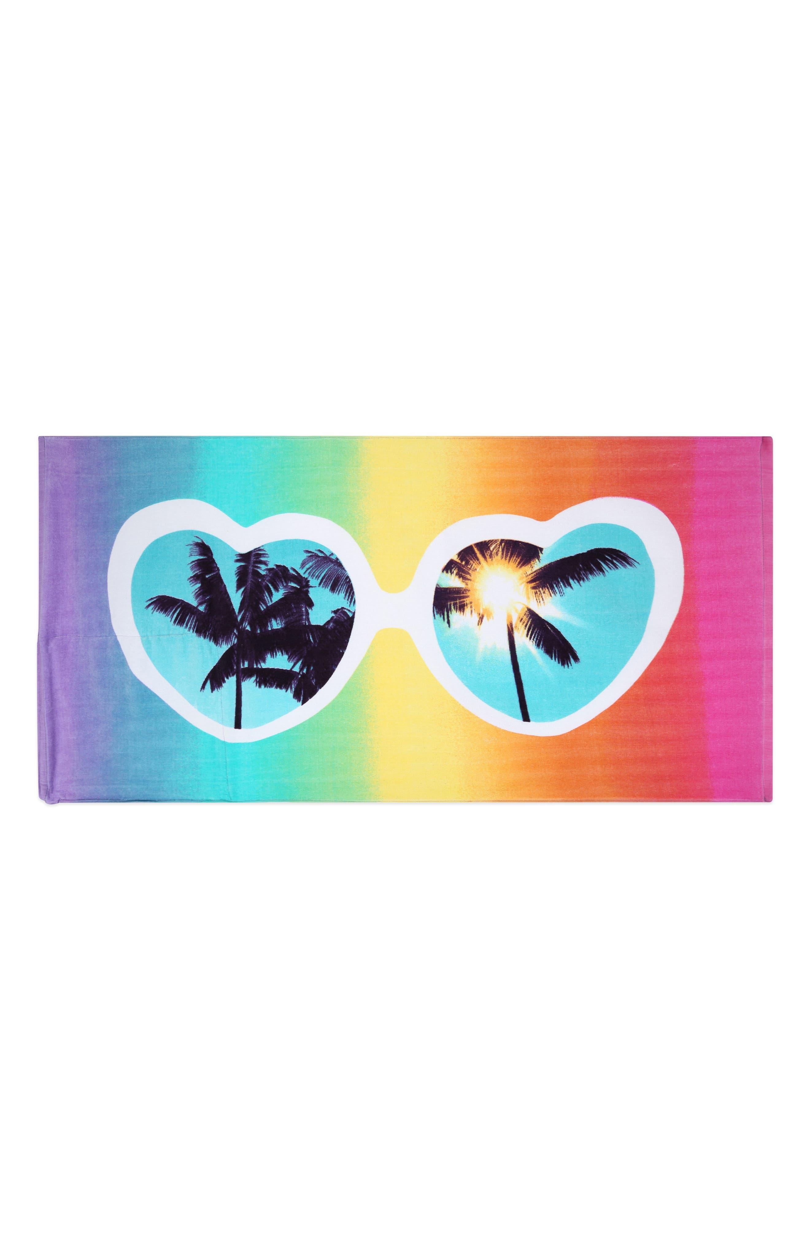 Heart Sunnies Towel Backpack,                             Main thumbnail 1, color,                             475