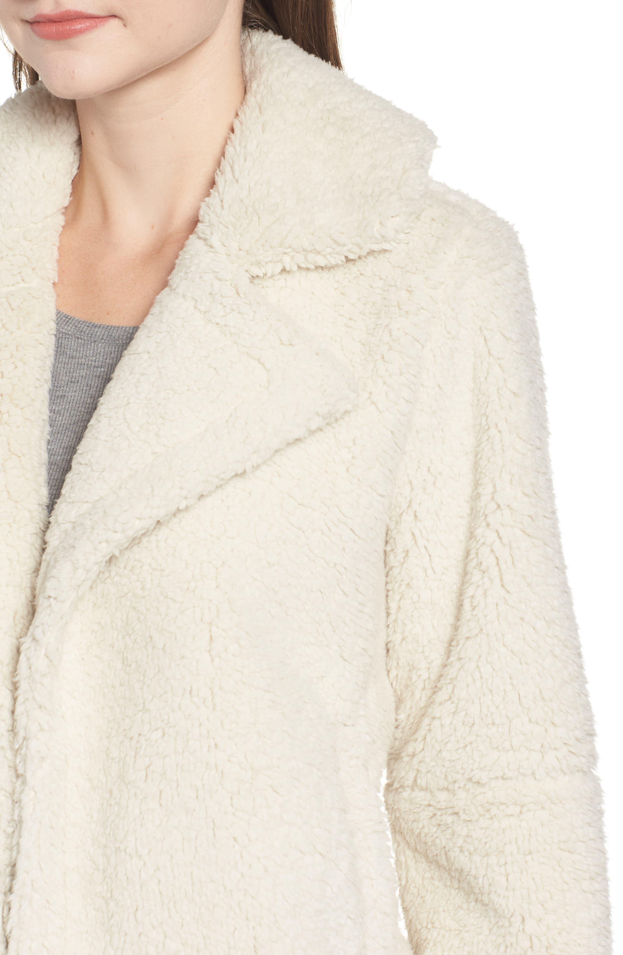 Teddy Bear Faux Fur Jacket,                             Alternate thumbnail 4, color,                             900