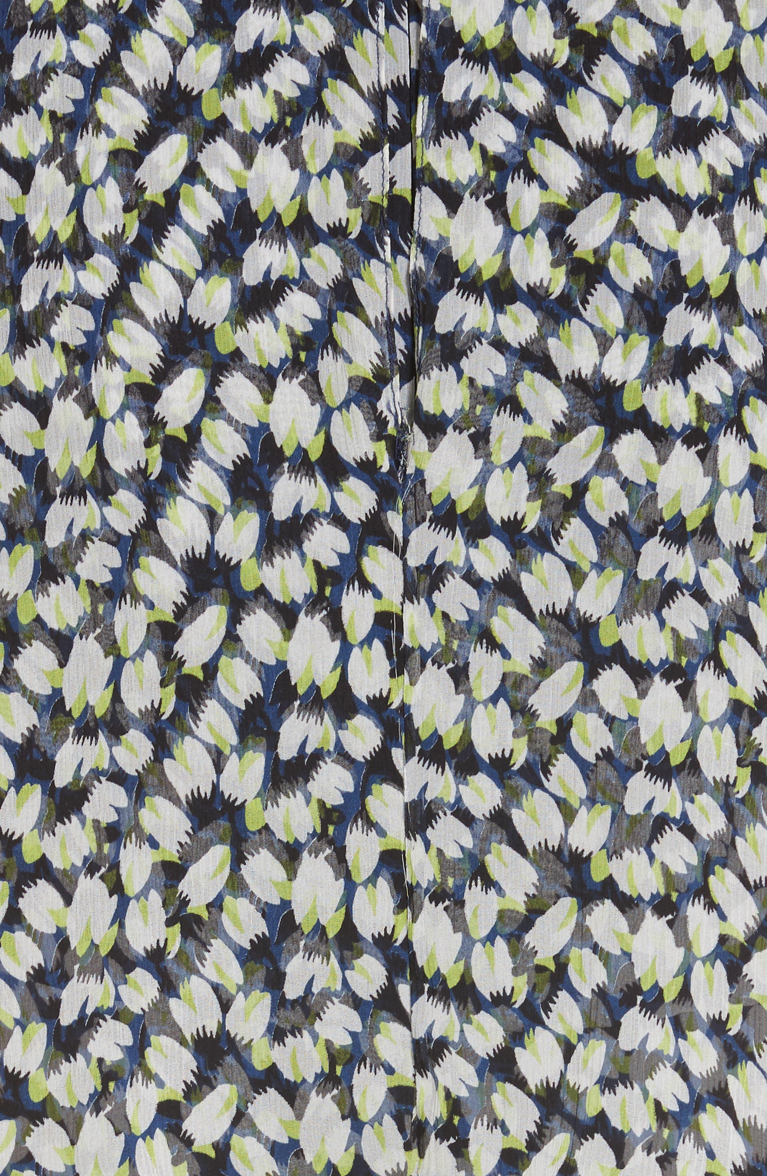 Print Silk Chiffon Day Dress,                             Alternate thumbnail 5, color,