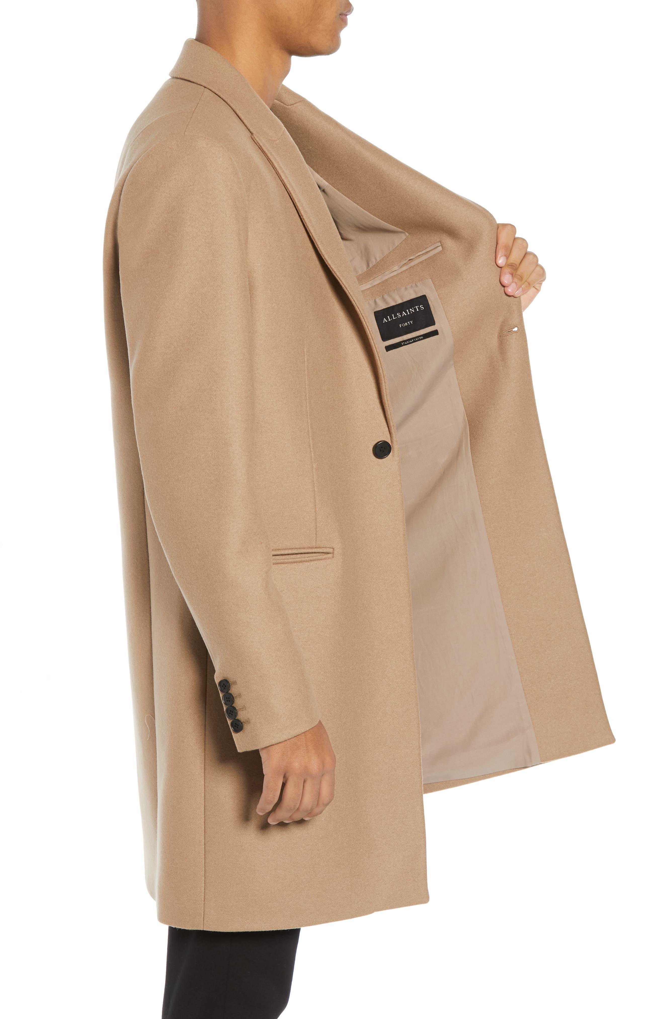 Tulsen Regular Fit Wool Topcoat,                             Alternate thumbnail 3, color,                             200