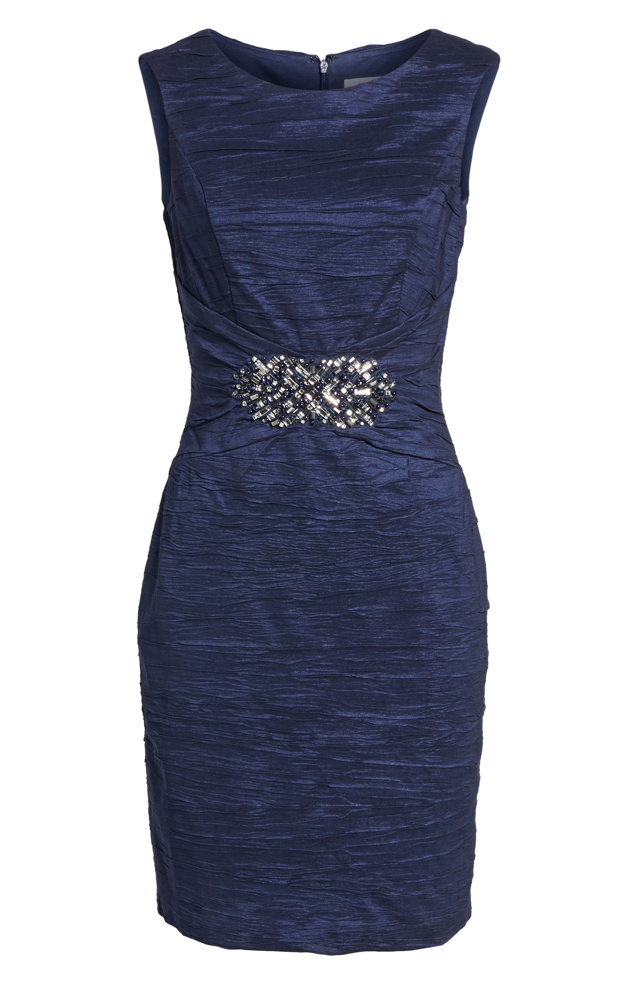 Embellished Taffeta Sheath Dress,                             Alternate thumbnail 20, color,