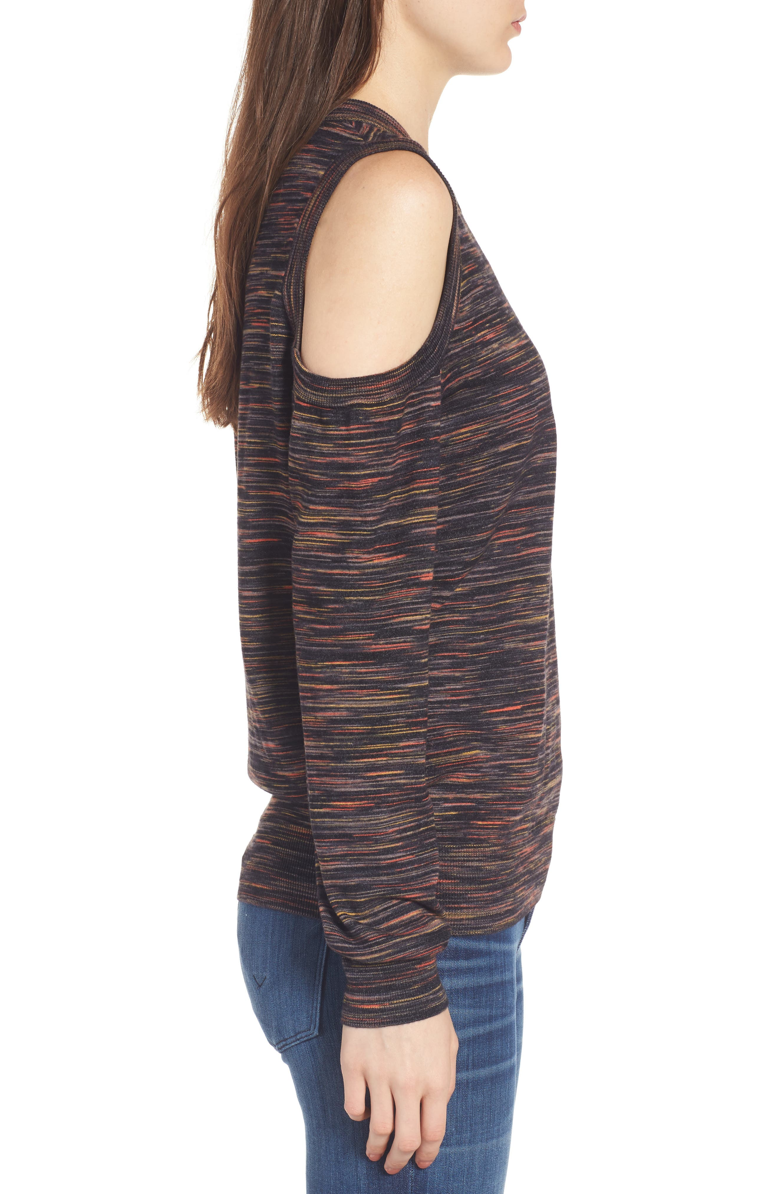 Page Cold Shoulder Sweater,                             Alternate thumbnail 3, color,                             021