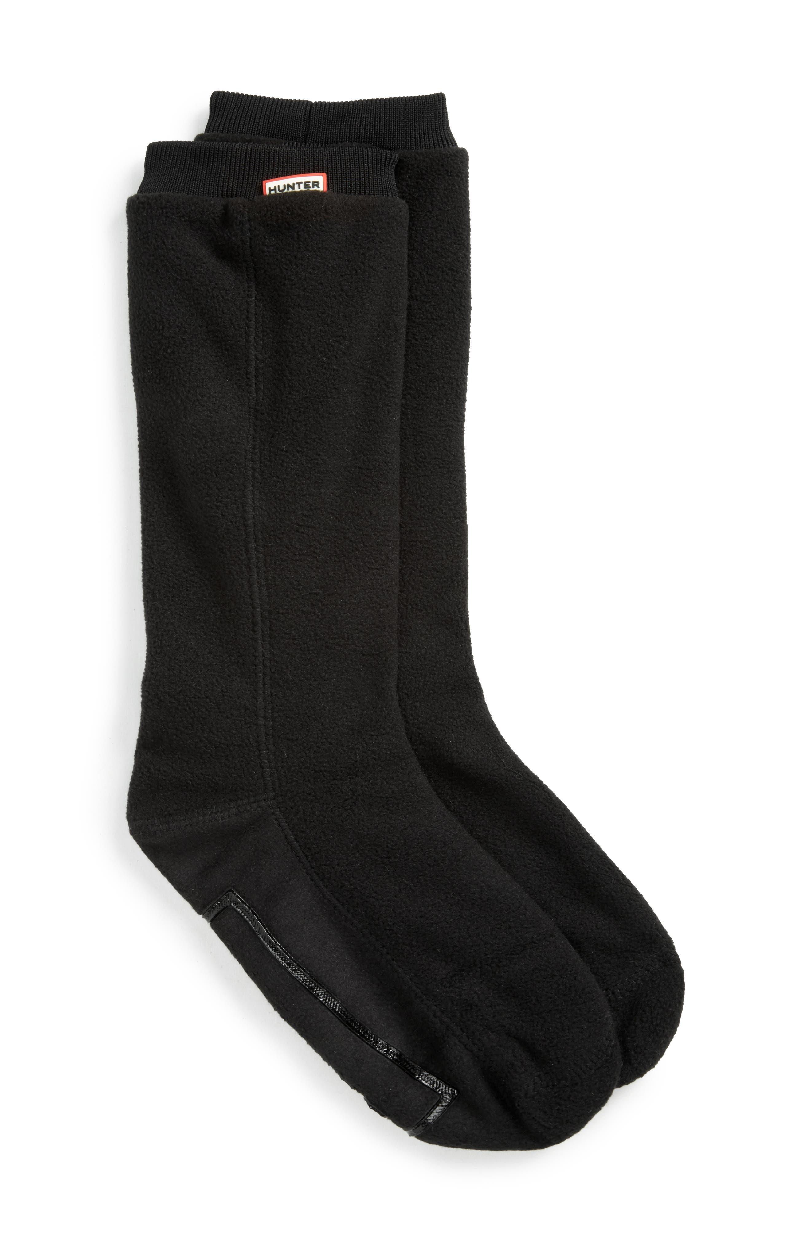 Original Fitted Boot Socks,                         Main,                         color, BLACK