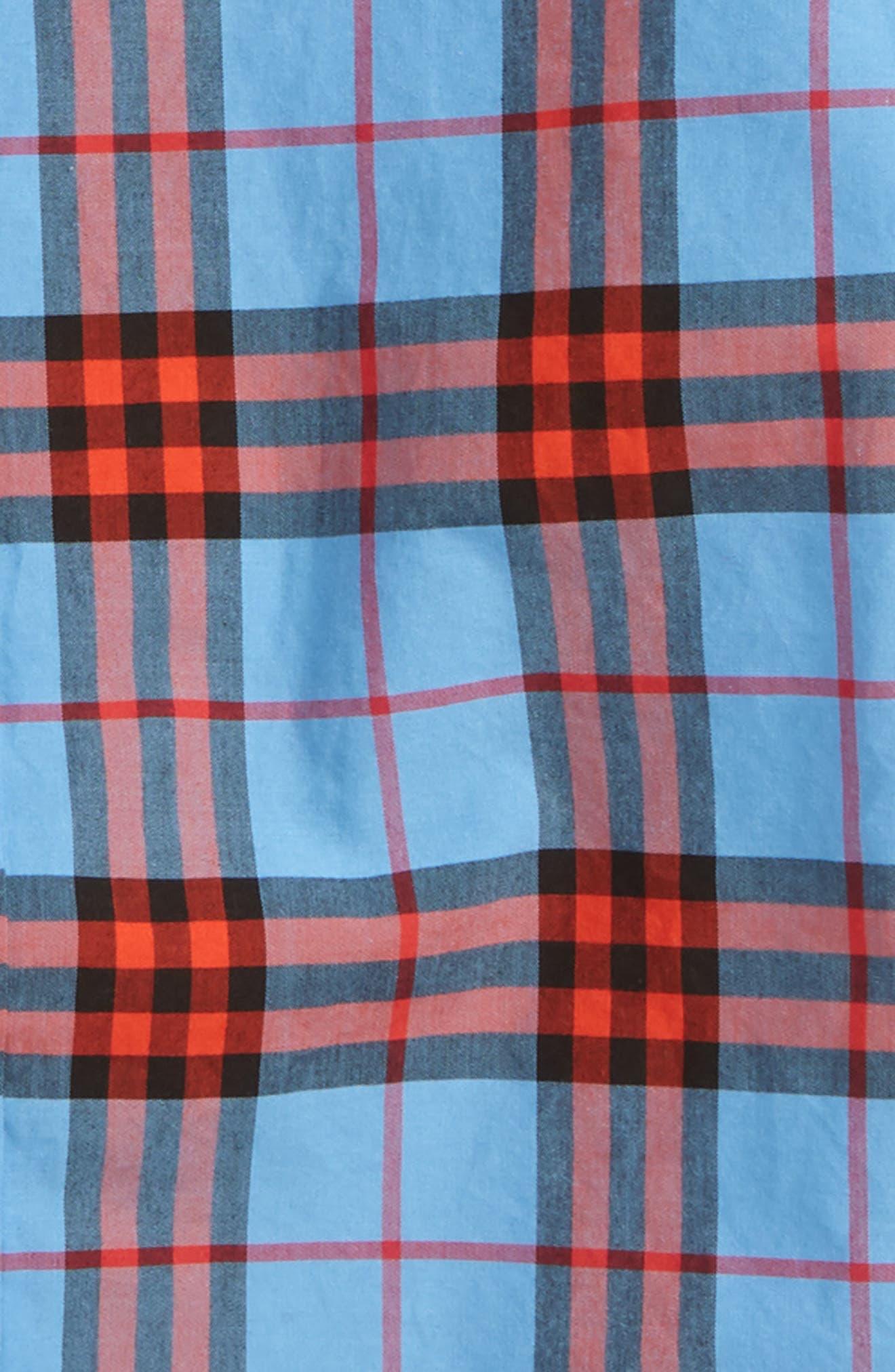Clarkey Plaid Short Sleeve Shirt,                             Alternate thumbnail 2, color,                             CORNFLOWER BLUE