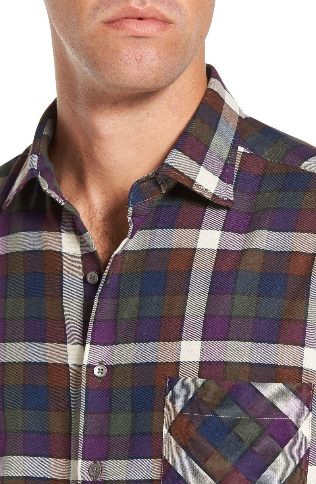 'Allister' Sports Fit Plaid Flannel Sport Shirt,                             Alternate thumbnail 2, color,                             503