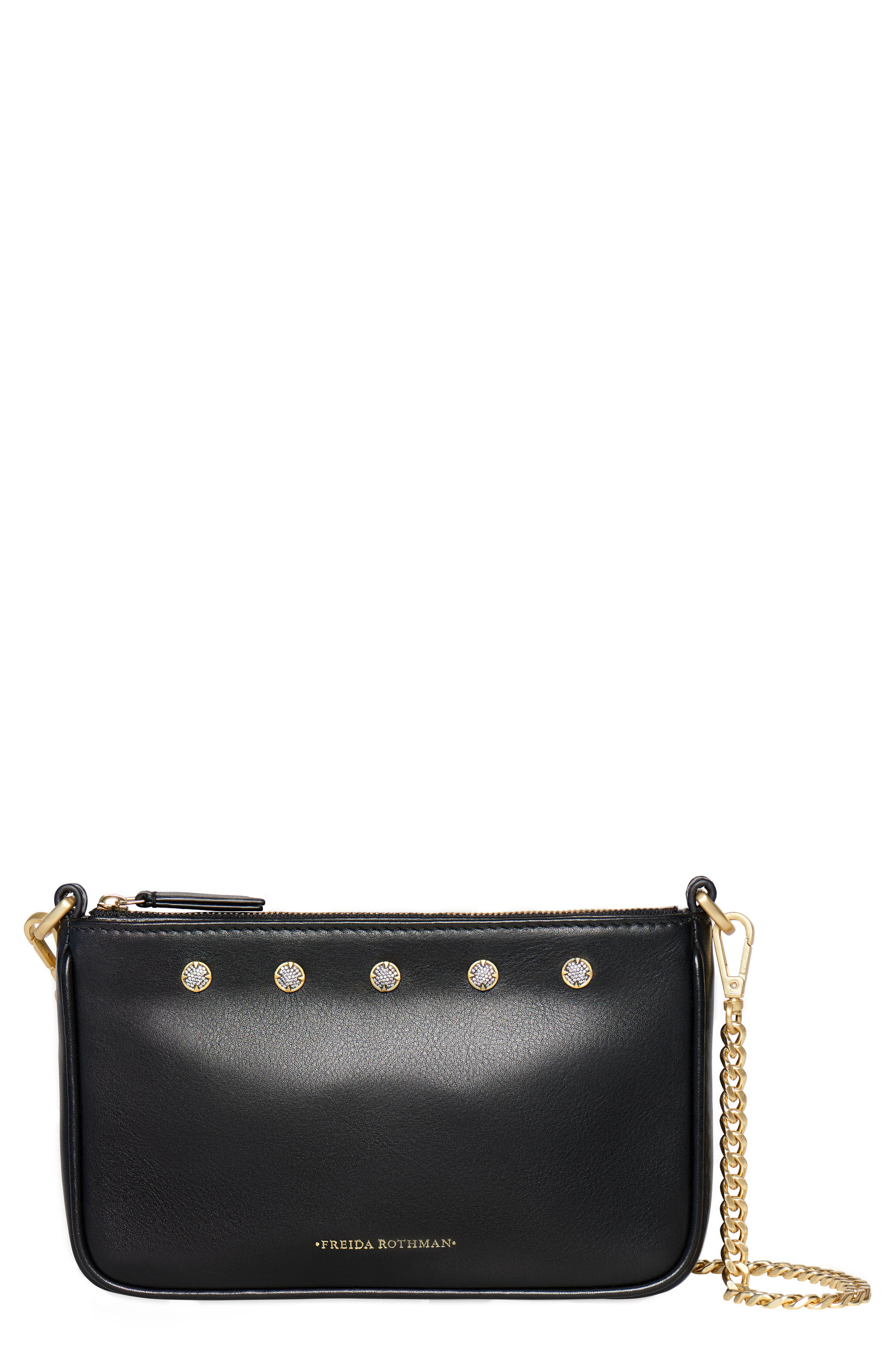 Mini Mercer Leather Shoulder Bag,                         Main,                         color, BLACK