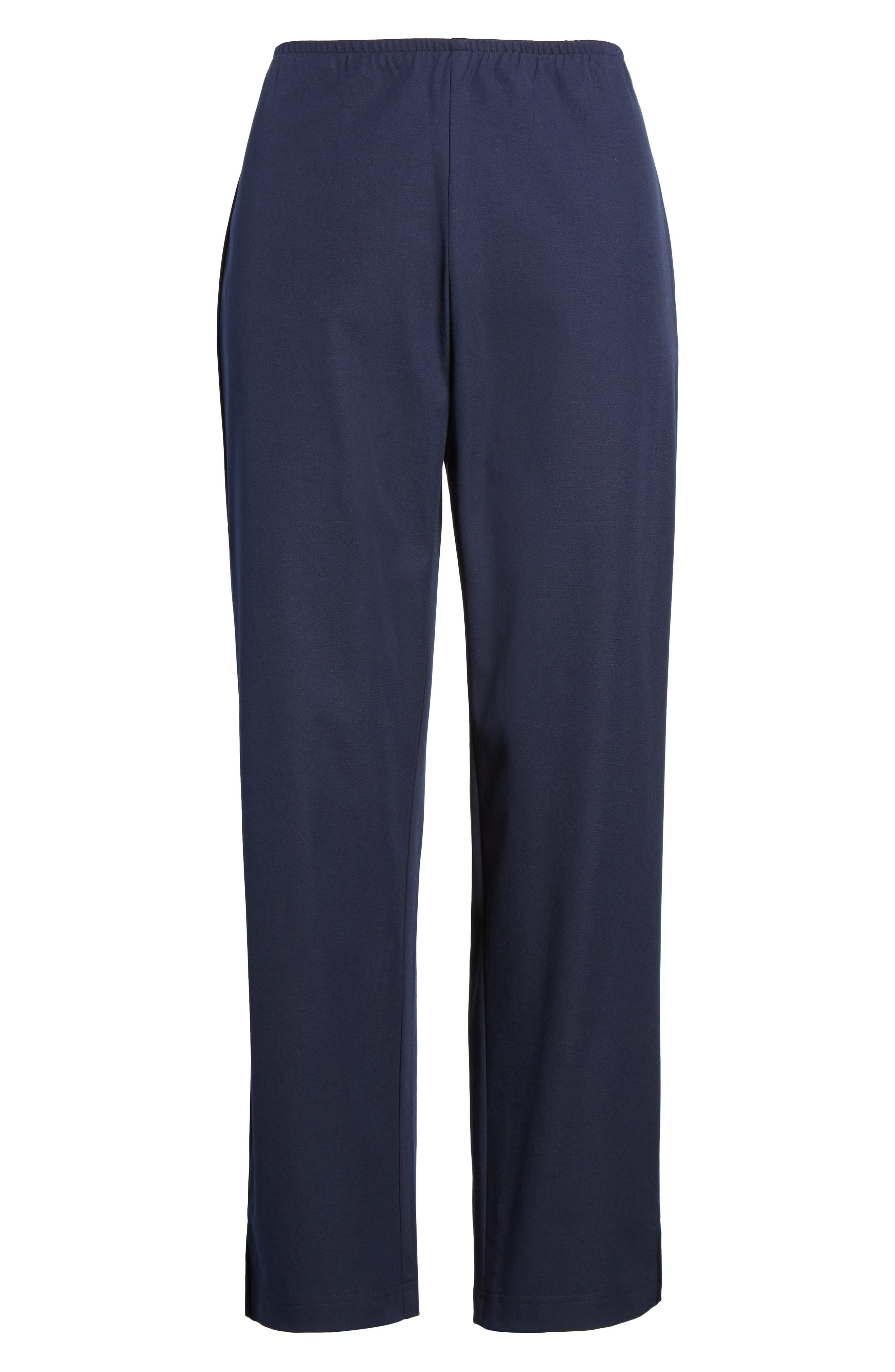 Organic Stretch Cotton Twill Ankle Pants,                             Alternate thumbnail 51, color,