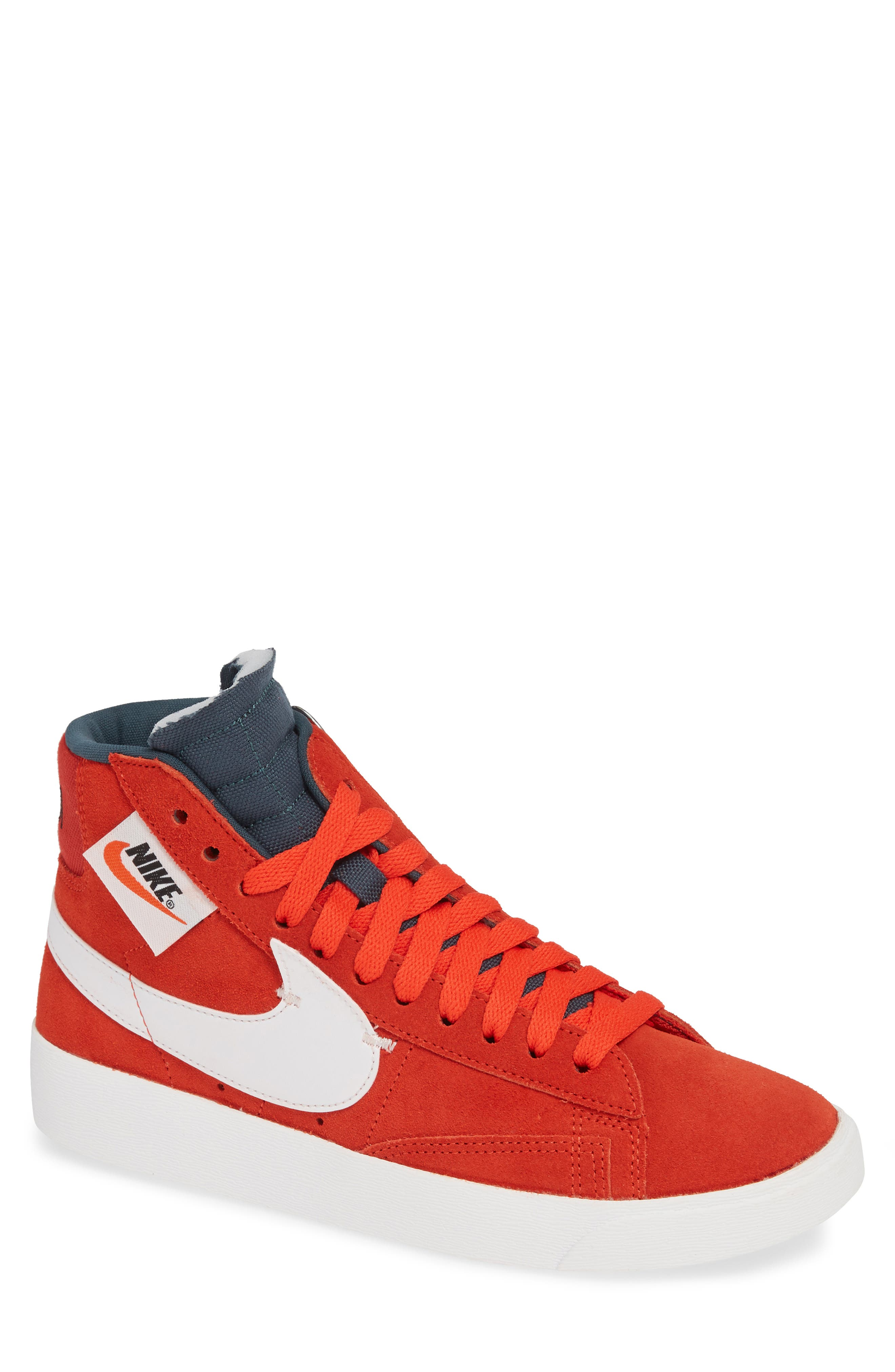 Blazer Mid Rebel Sneaker,                         Main,                         color, HABANERO/ WHITE/ BLACK/ SPRUCE