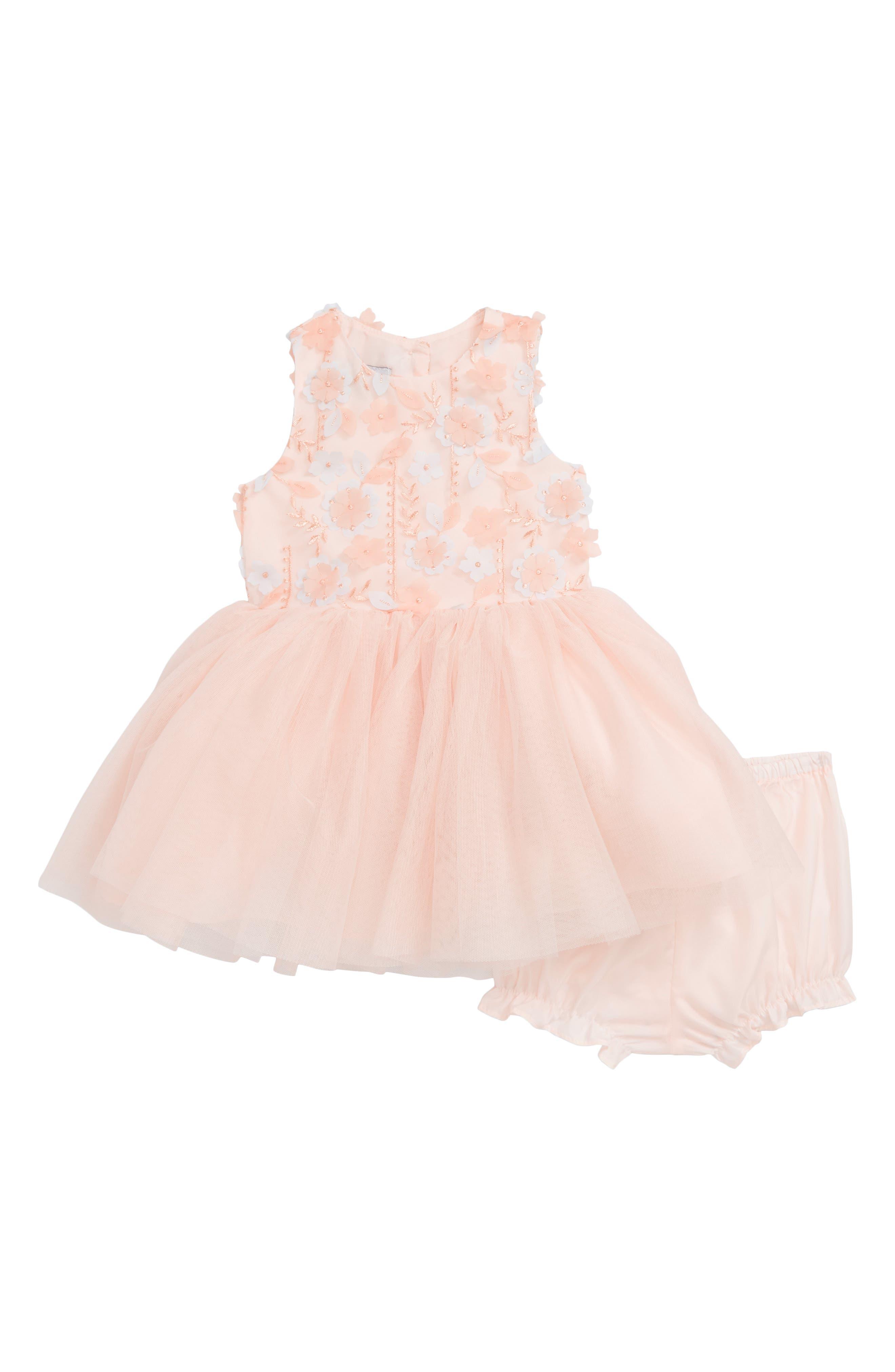 3D Flower Tutu Dress,                         Main,                         color, 950