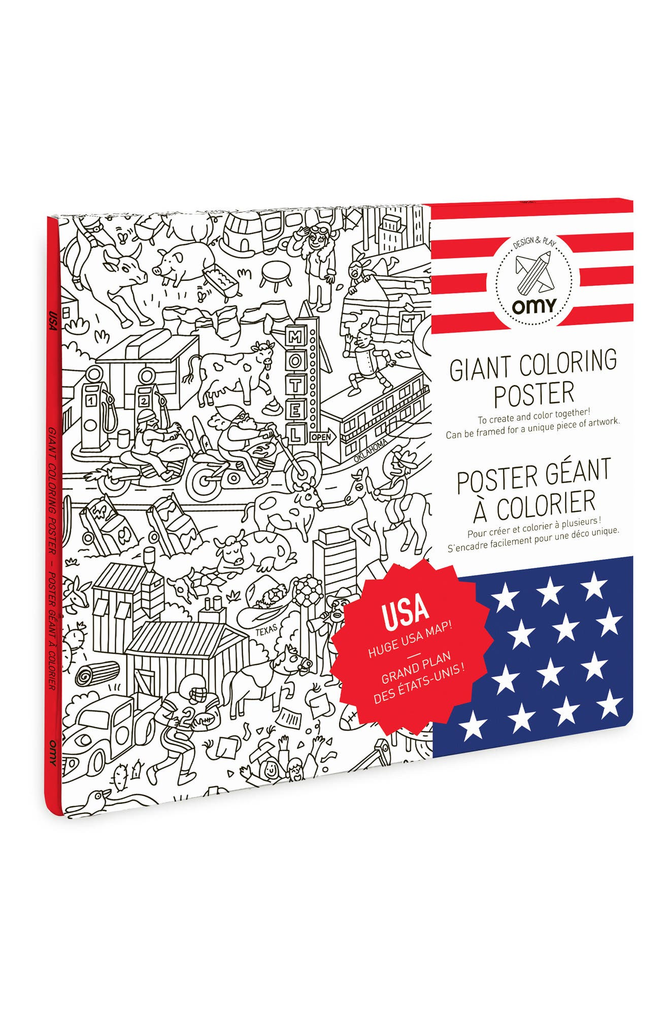 USA Giant Coloring Poster,                             Alternate thumbnail 2, color,                             100