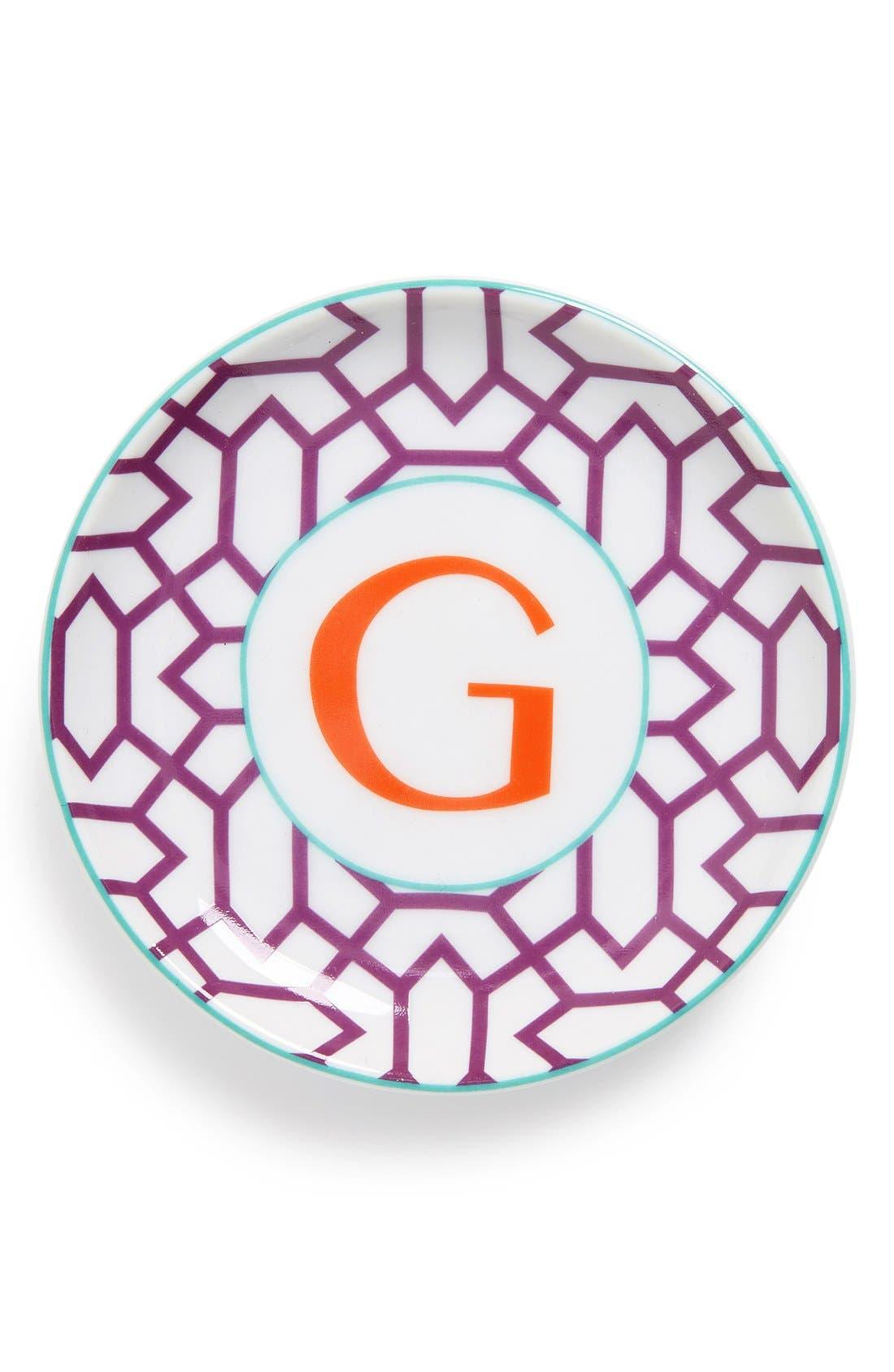'L'Alphabet' Porcelain Tray,                             Main thumbnail 9, color,