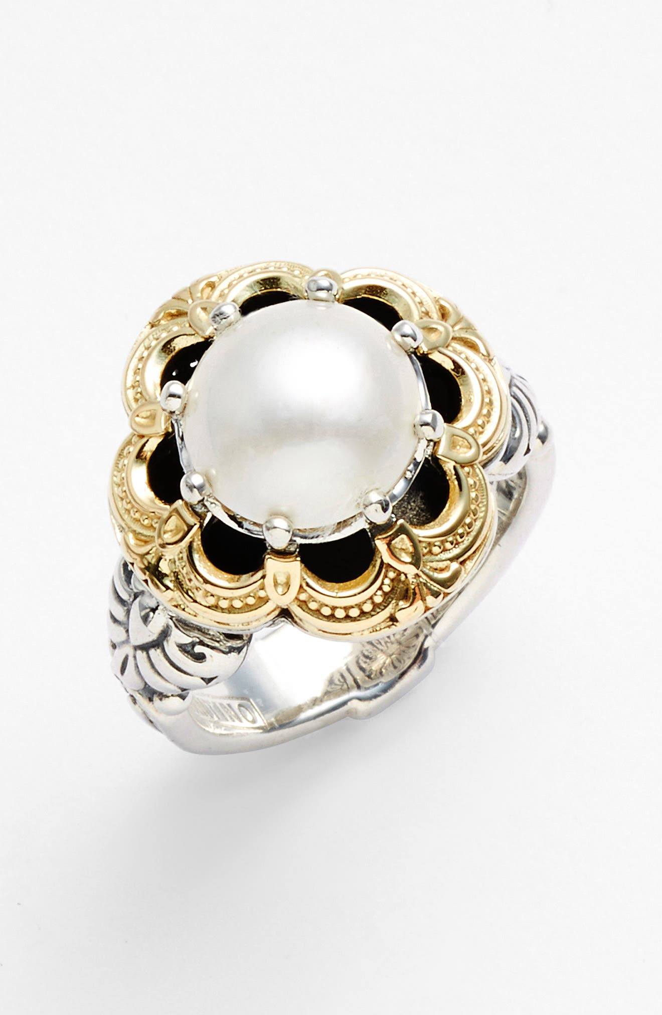 'Hermione' Semiprecious Stone Ring,                             Alternate thumbnail 3, color,                             SILVER/ GOLD
