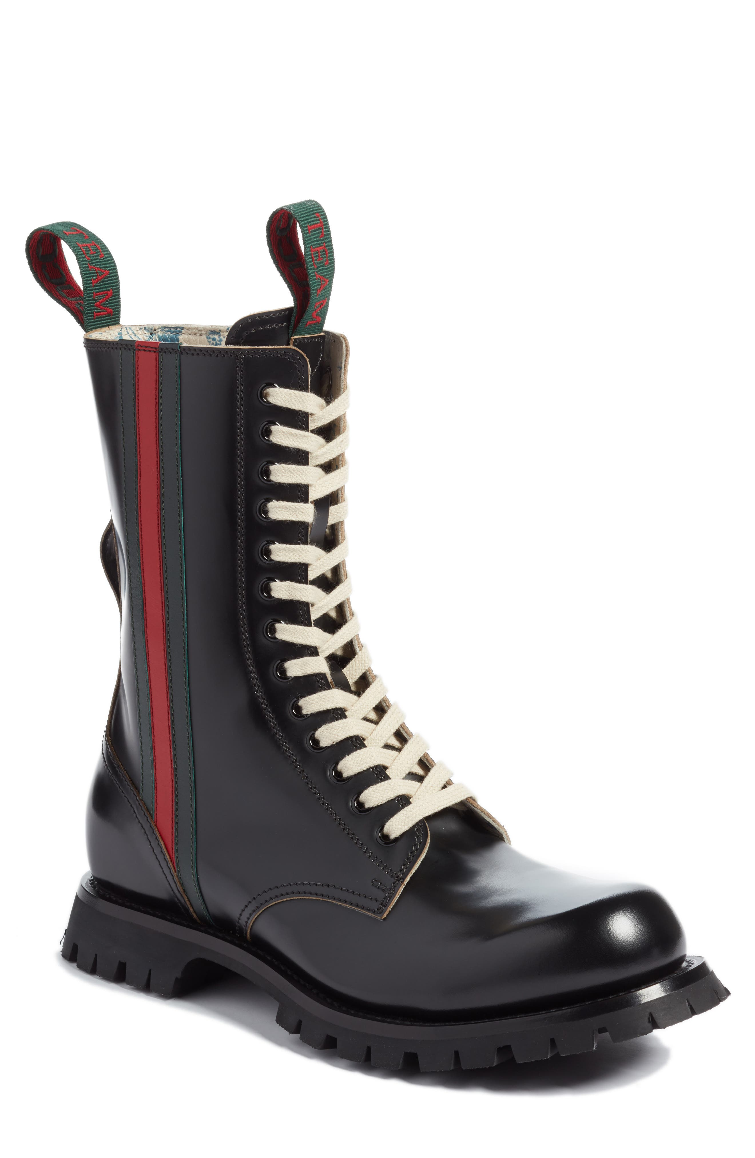 Gucci Arley Tall Web Boot, Black