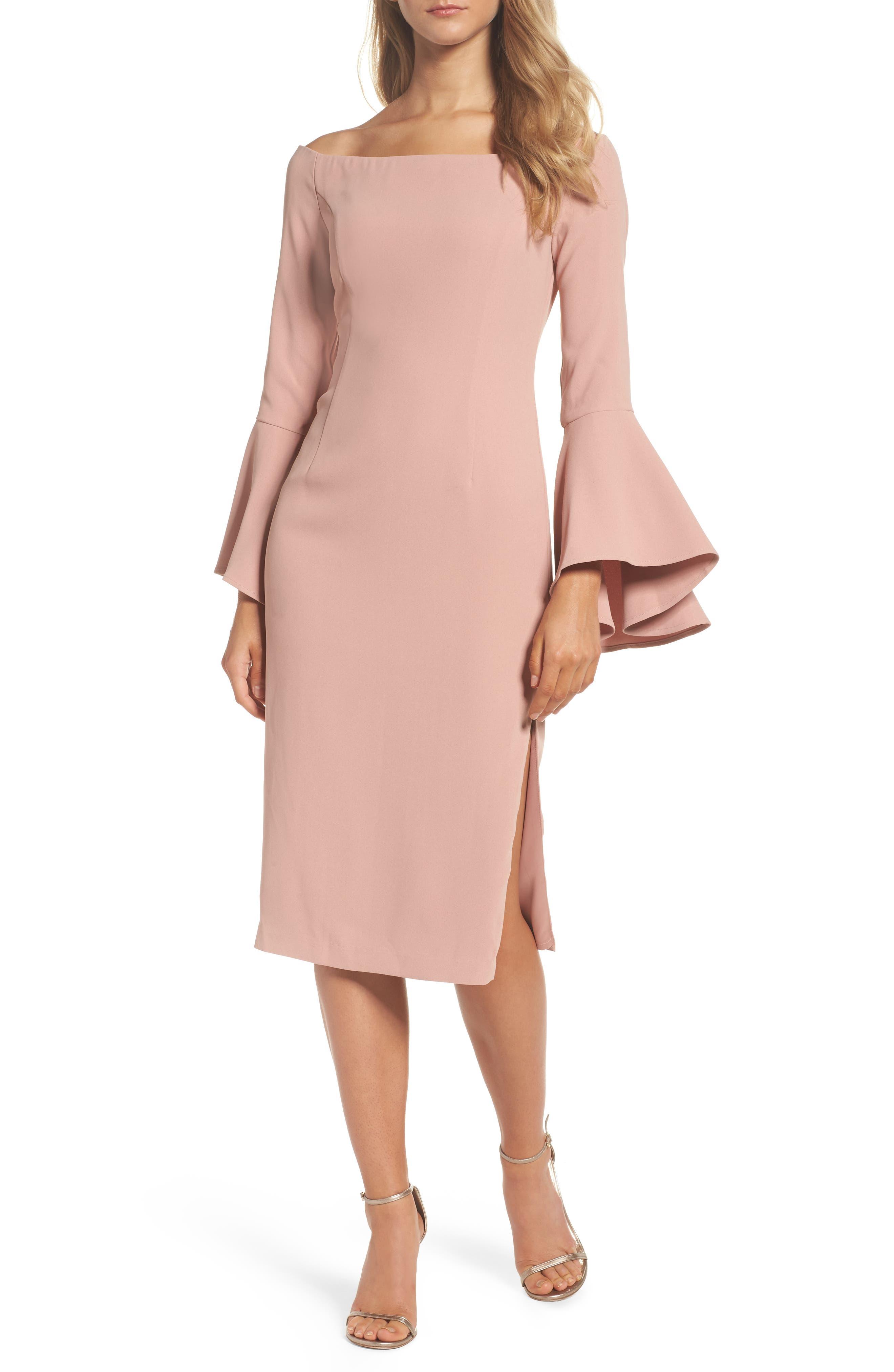 'Solange' Off the Shoulder Midi Dress,                             Alternate thumbnail 19, color,