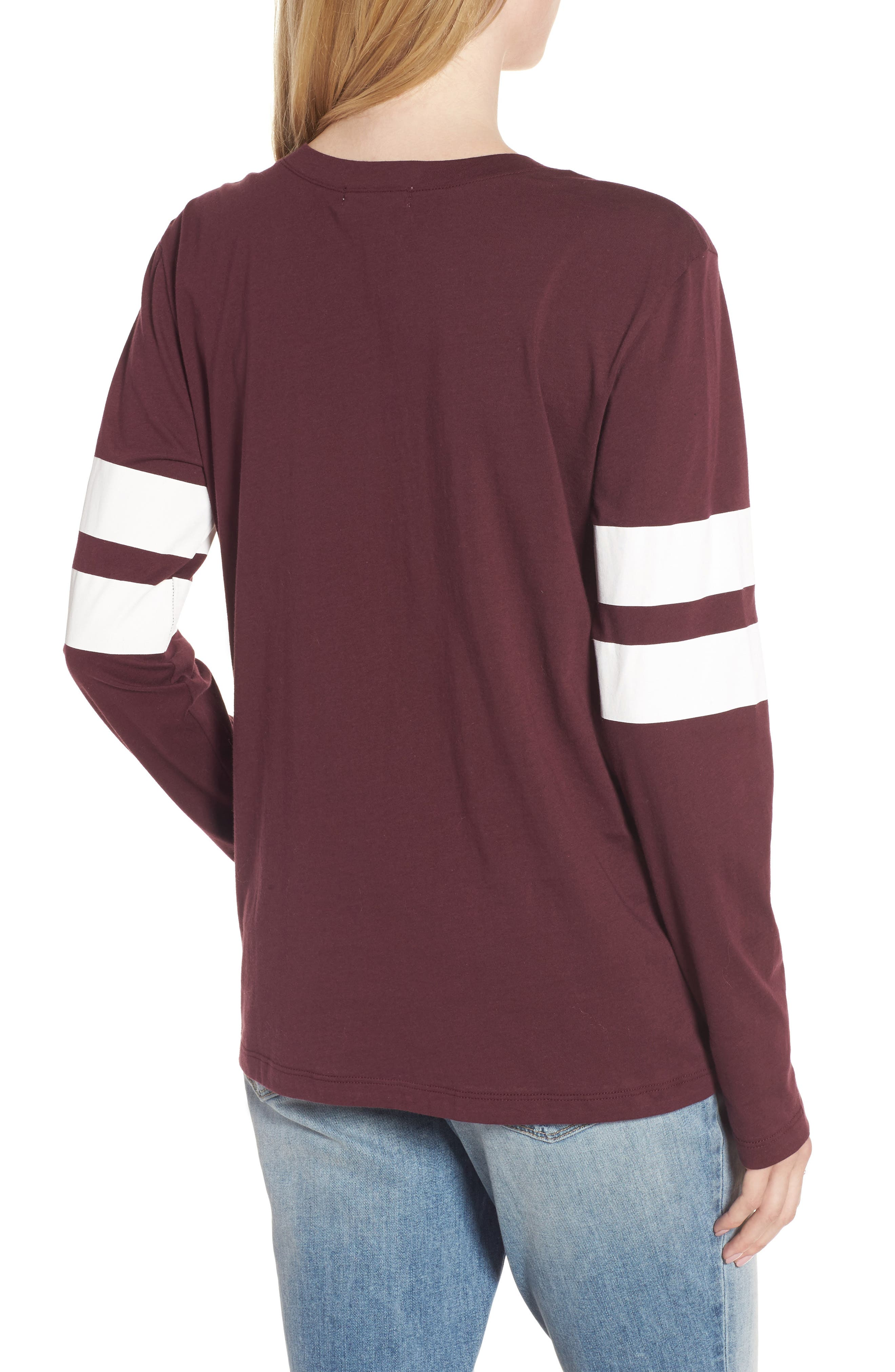 Varsity Stripe Cotton Tee,                             Alternate thumbnail 37, color,