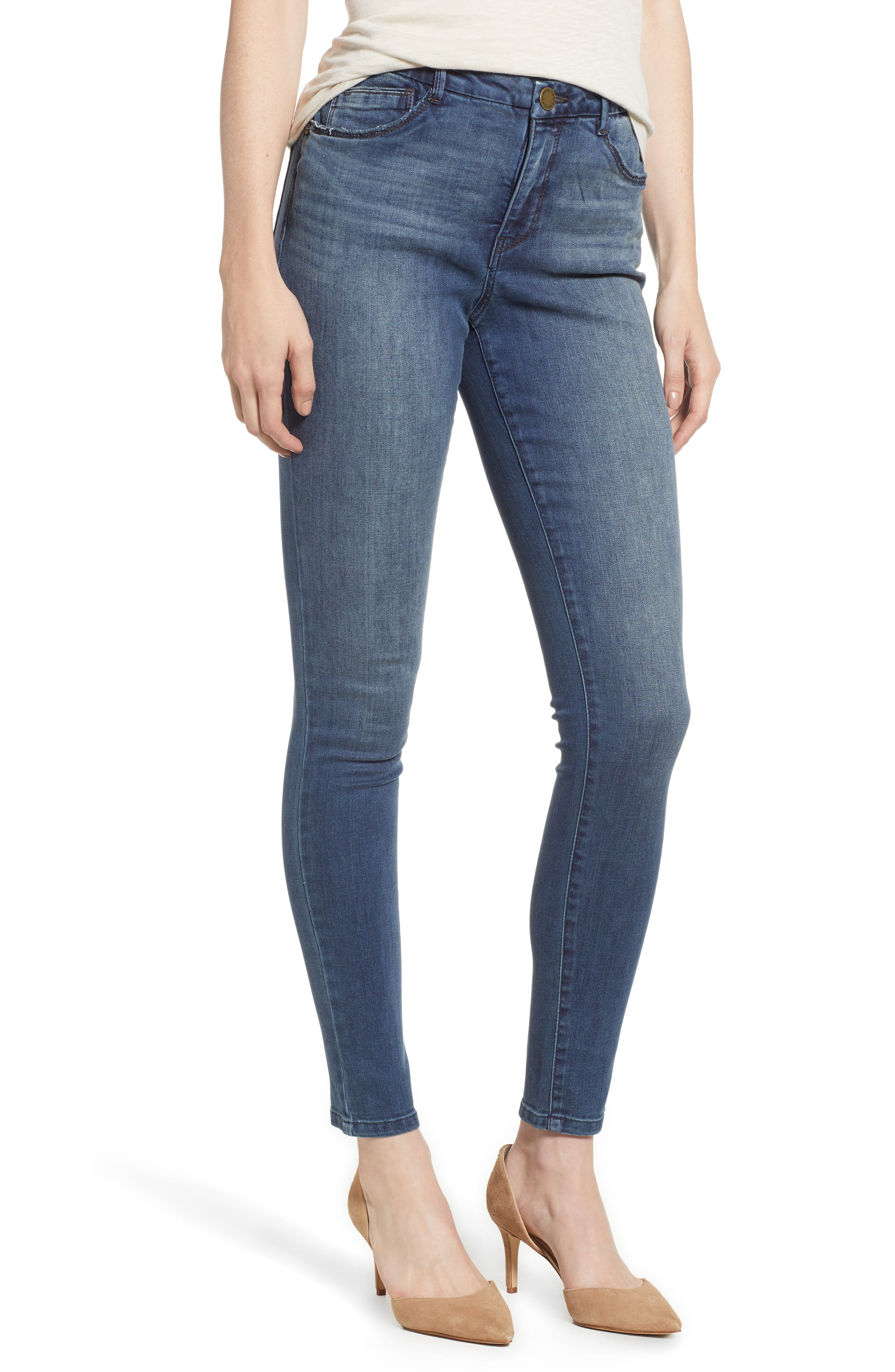 Ab-Solution High Waist Skinny Jeans,                         Main,                         color, 420