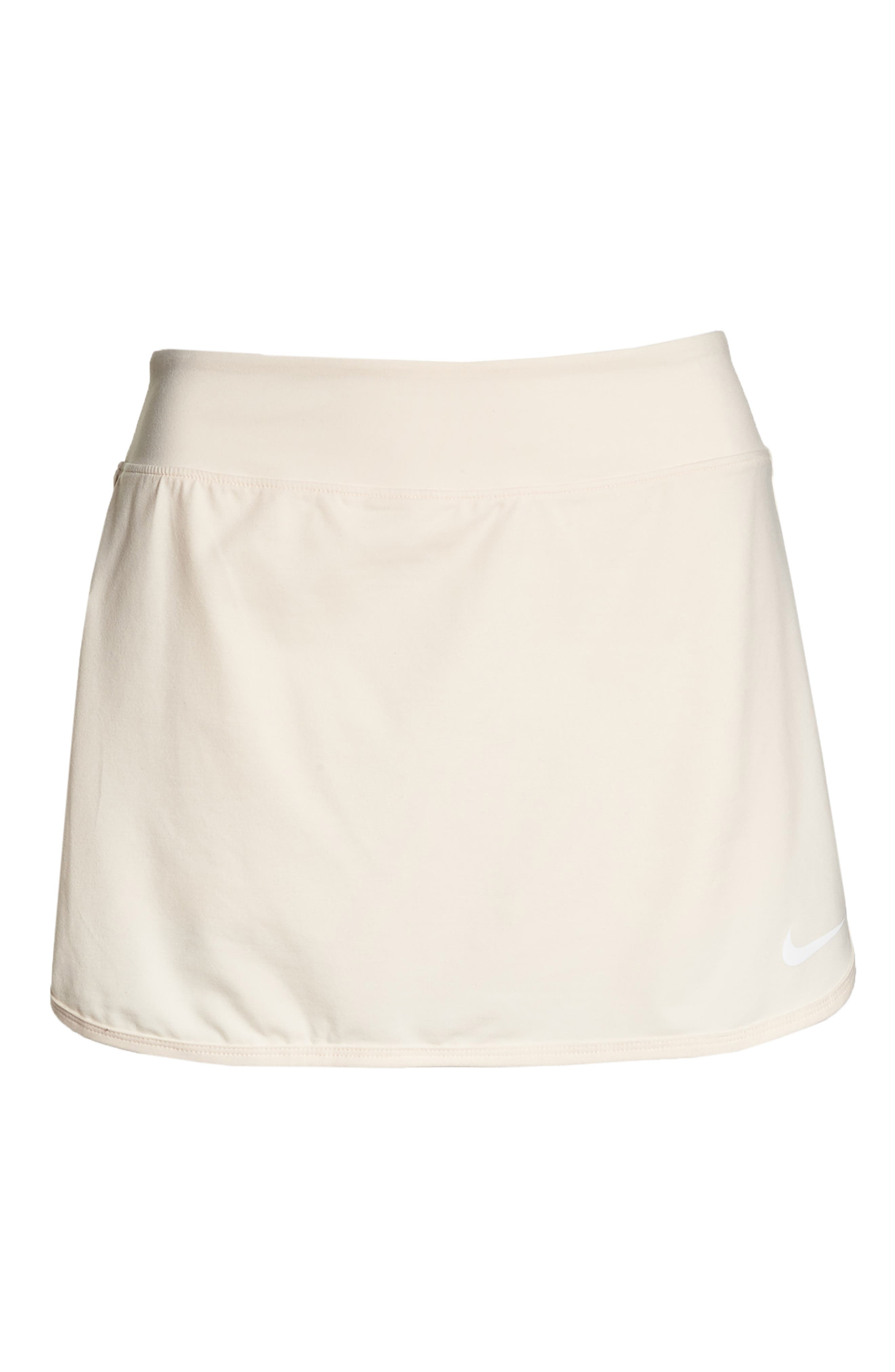 'Pure' Dri-FIT Tennis Skirt,                             Alternate thumbnail 7, color,                             GUAVA ICE/ WHITE