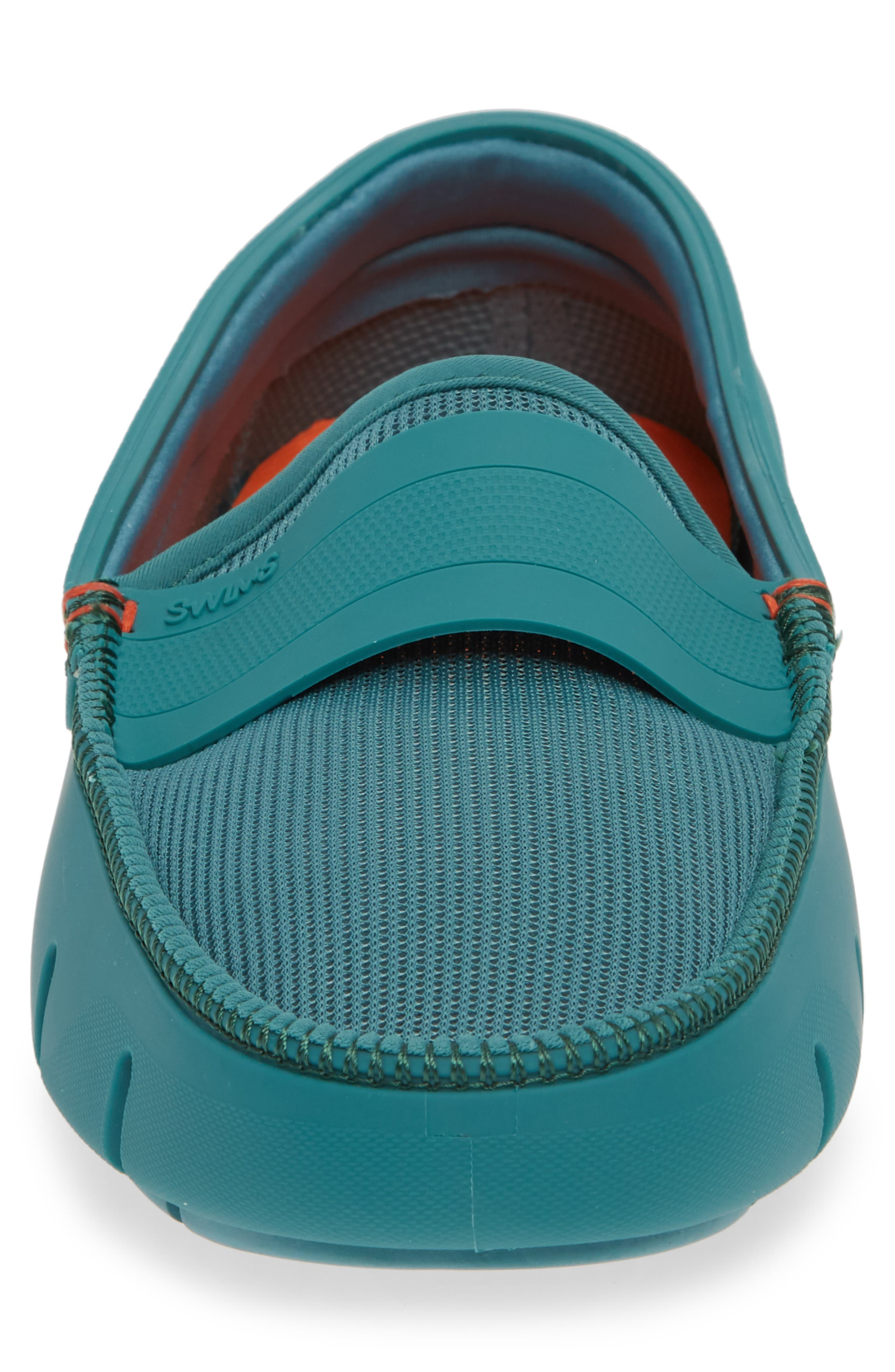 Stride Driving Loafer,                             Alternate thumbnail 4, color,                             TEAL GREEN