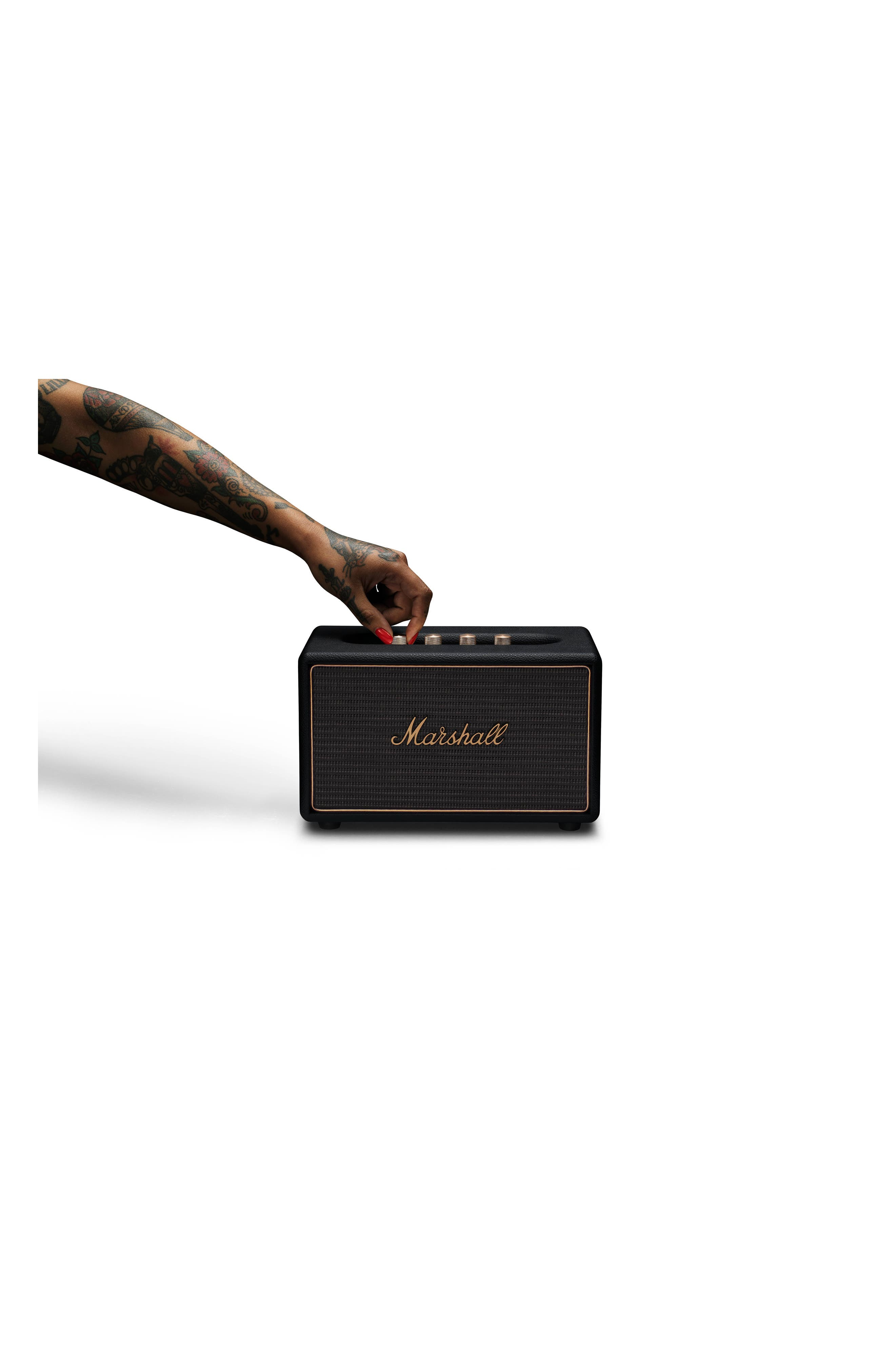 Acton Multi Room WiFi & Bluetooth Speaker,                             Alternate thumbnail 4, color,                             BLACK