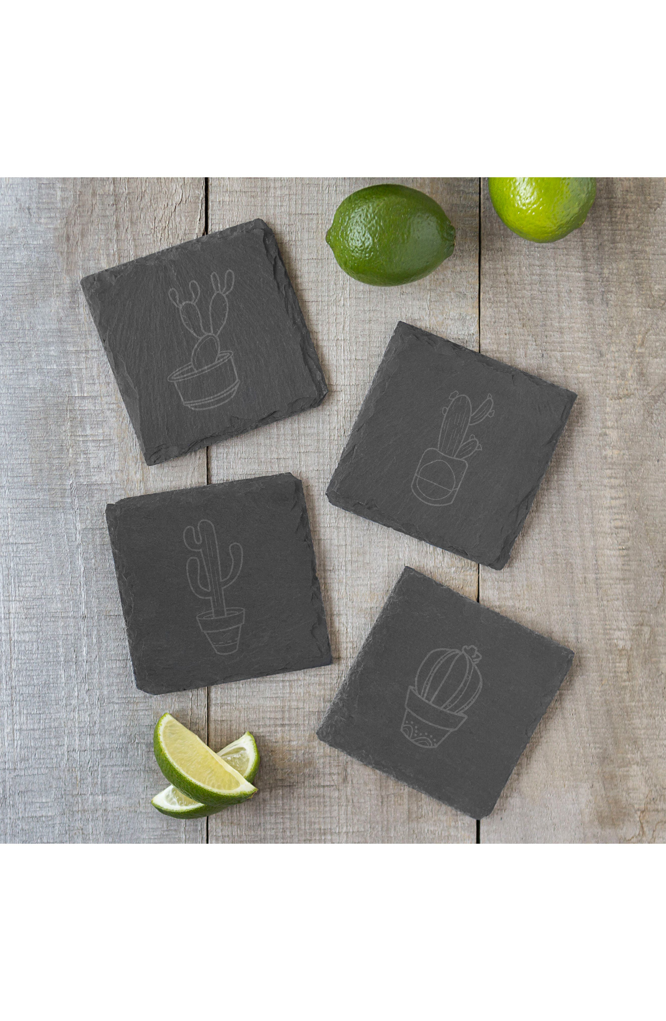 CATHY'S CONCEPTS,                             Cactus Set of 4 Coasters,                             Alternate thumbnail 6, color,                             002