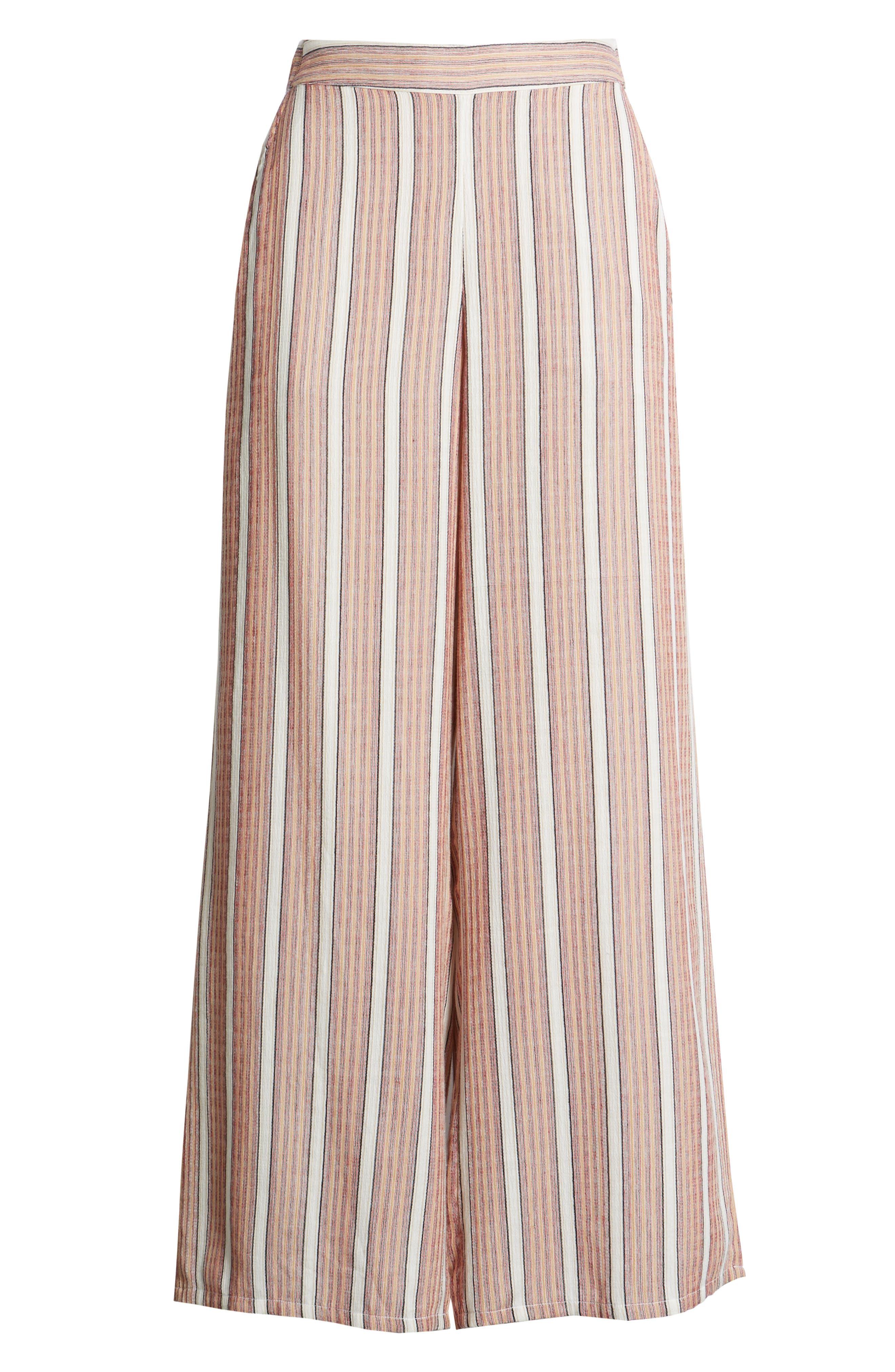 Midnight Avenue Stripe Pants,                             Alternate thumbnail 7, color,                             AMERICAN BEAUTY MULTI STRIPES