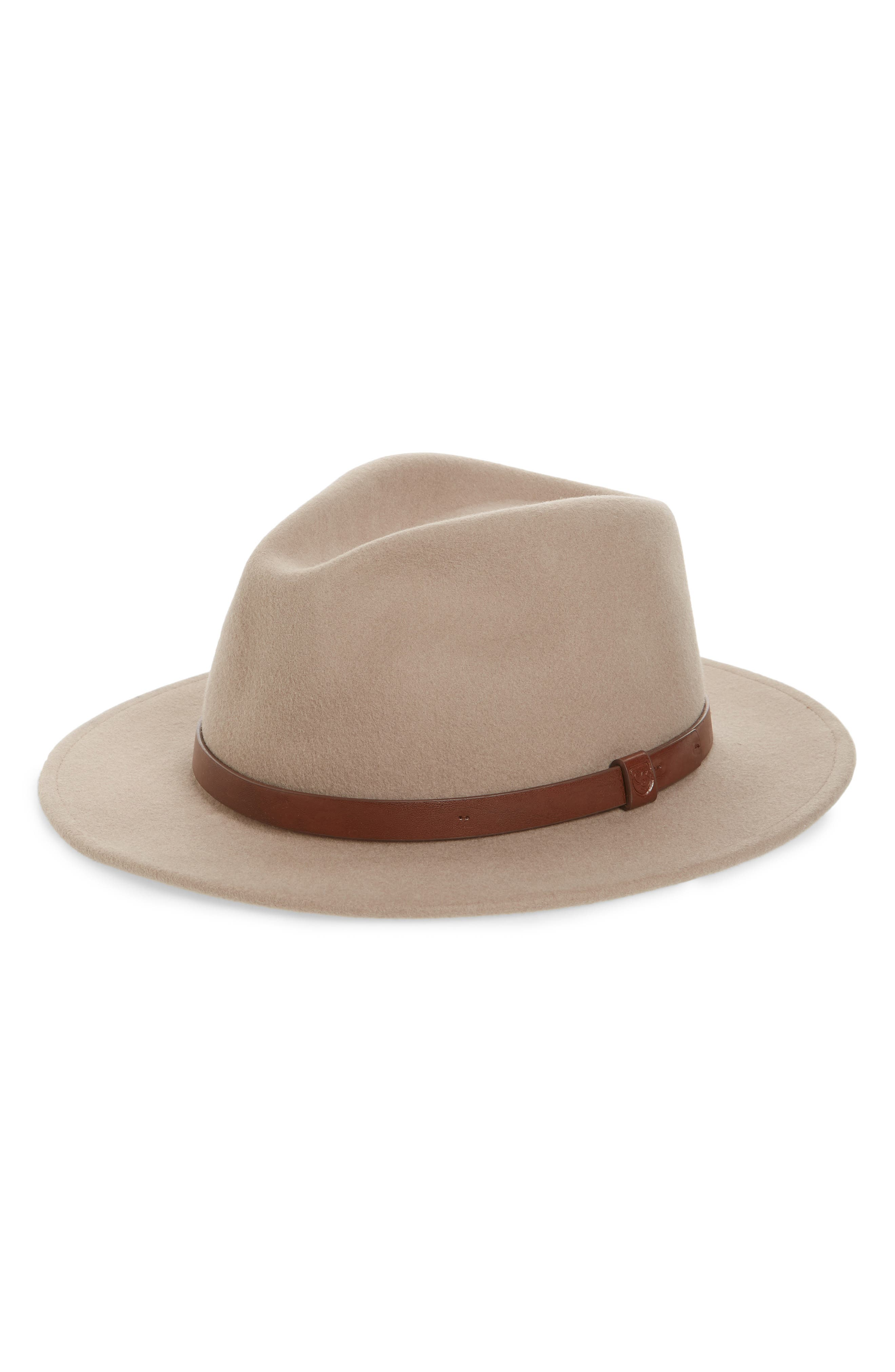 BRIXTON Messer Wool Fedora, Main, color, 250