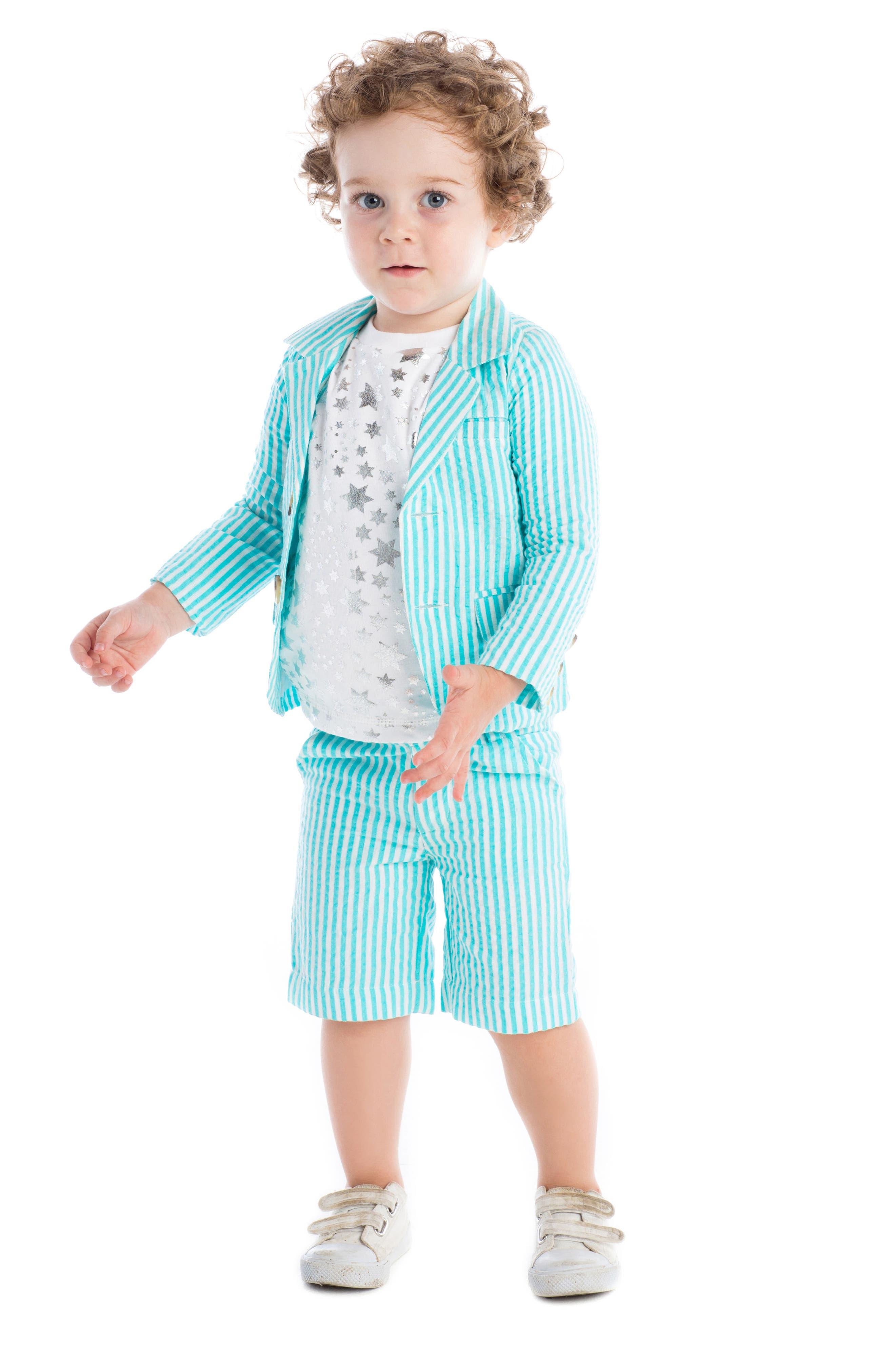 Masalababy Crosby Stripe Shorts,                             Alternate thumbnail 2, color,                             400