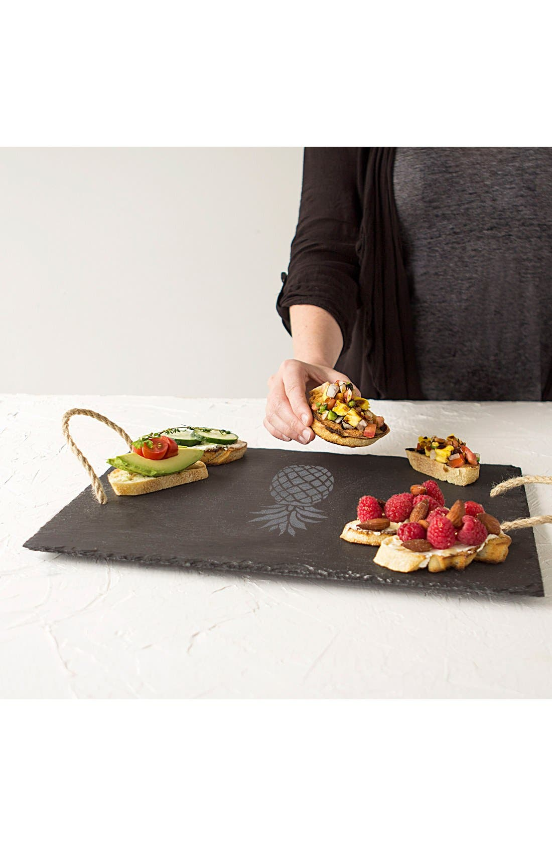 Pineapple Slate Serving Tray,                             Alternate thumbnail 6, color,                             020