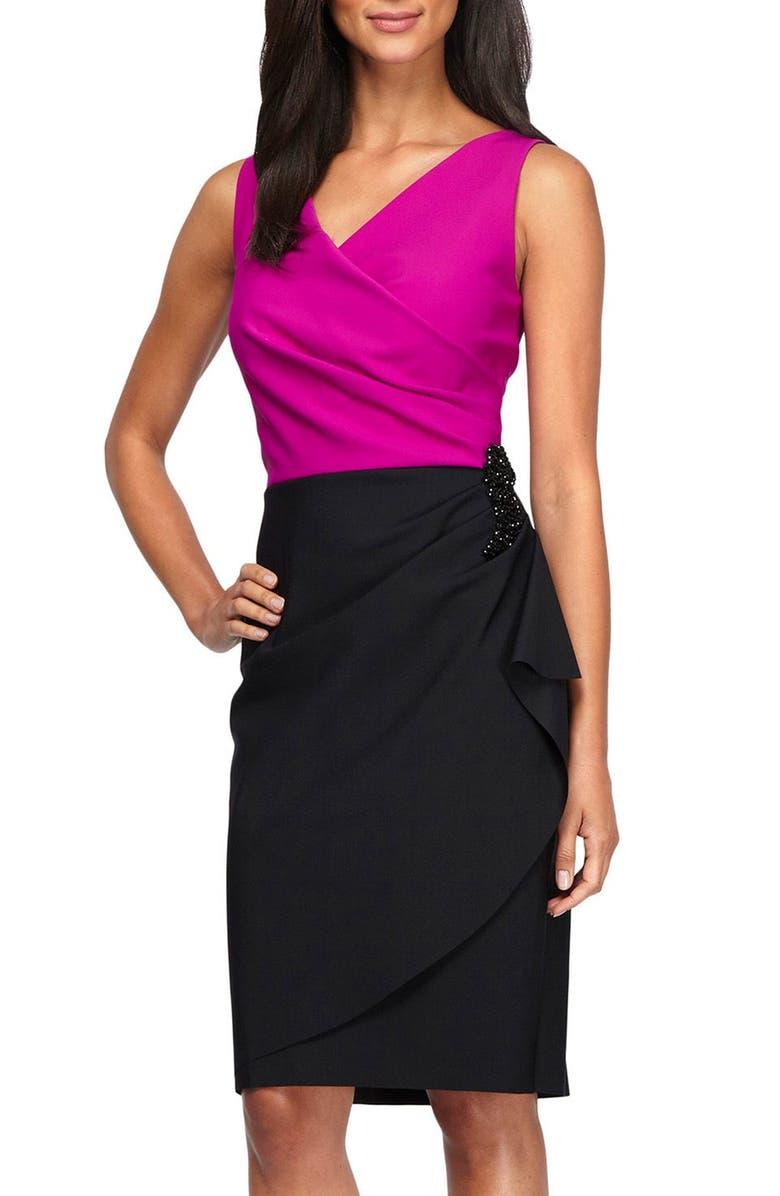 0fd6555b129 Alex Evenings Colorblock Sheath Dress (Regular   Petite)