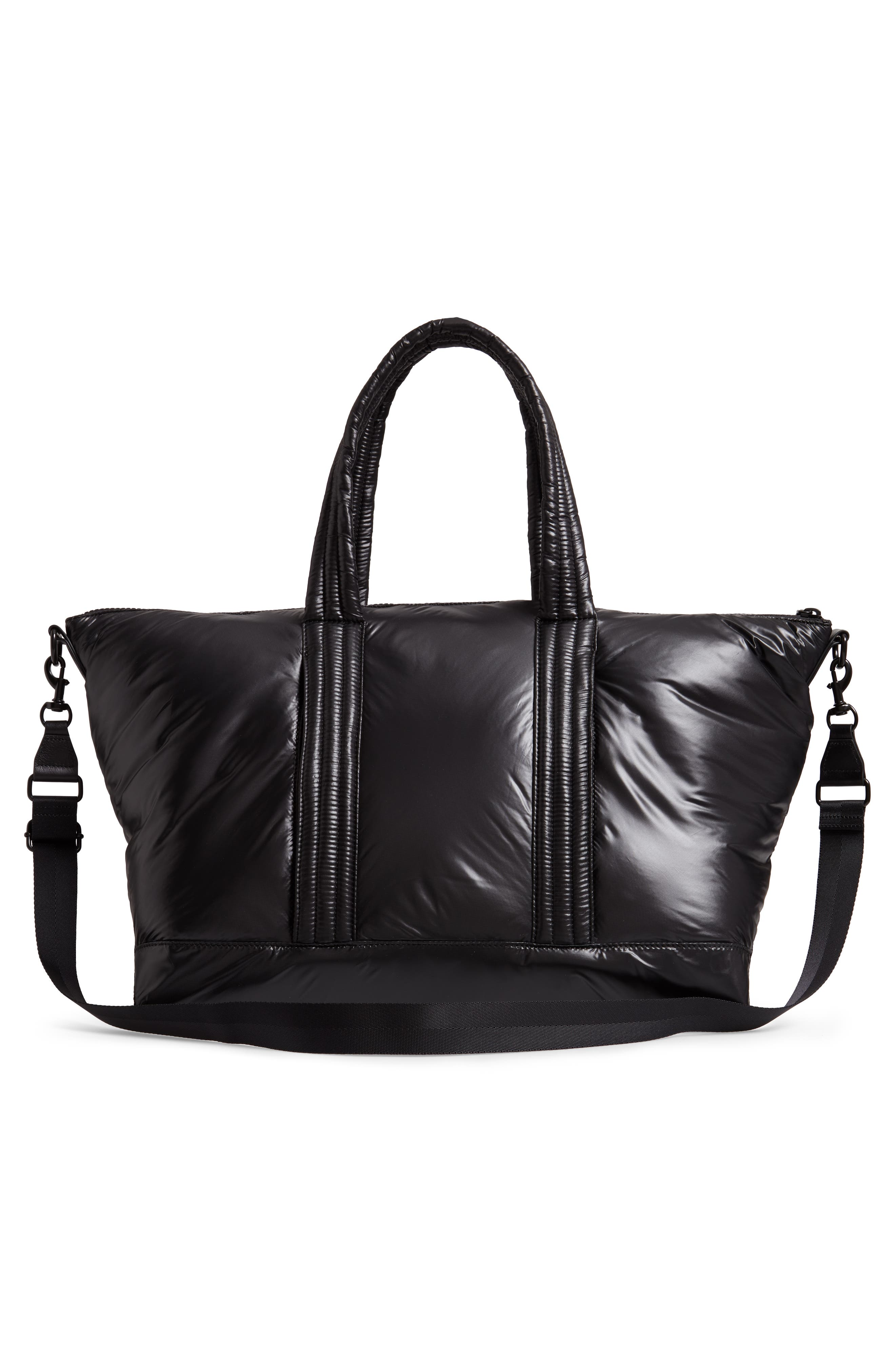 Puffy Nylon Duffel Bag,                             Alternate thumbnail 3, color,                             001