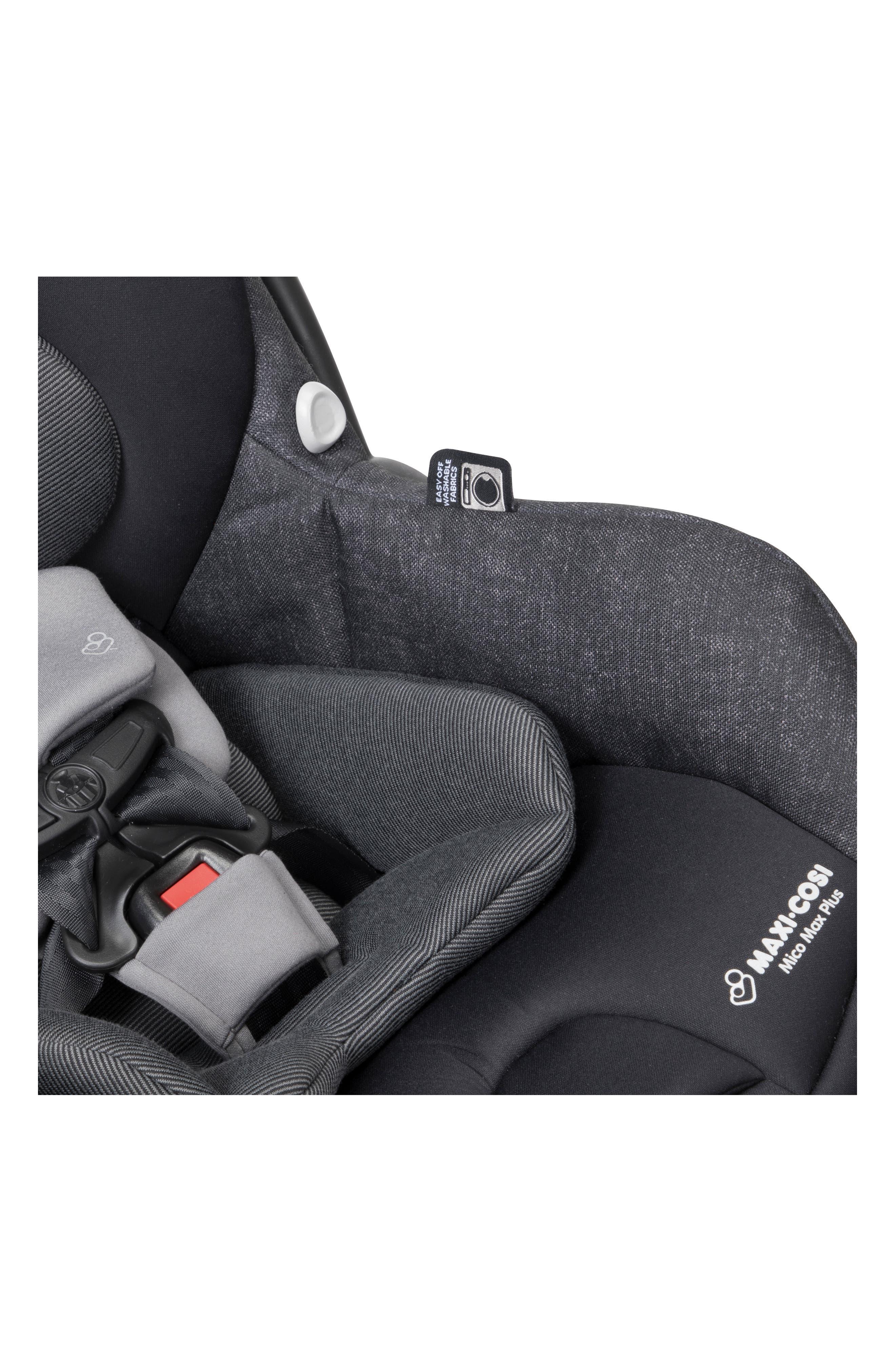 Mico Max Plus Infant Car Seat,                             Alternate thumbnail 4, color,                             NOMAD BLACK