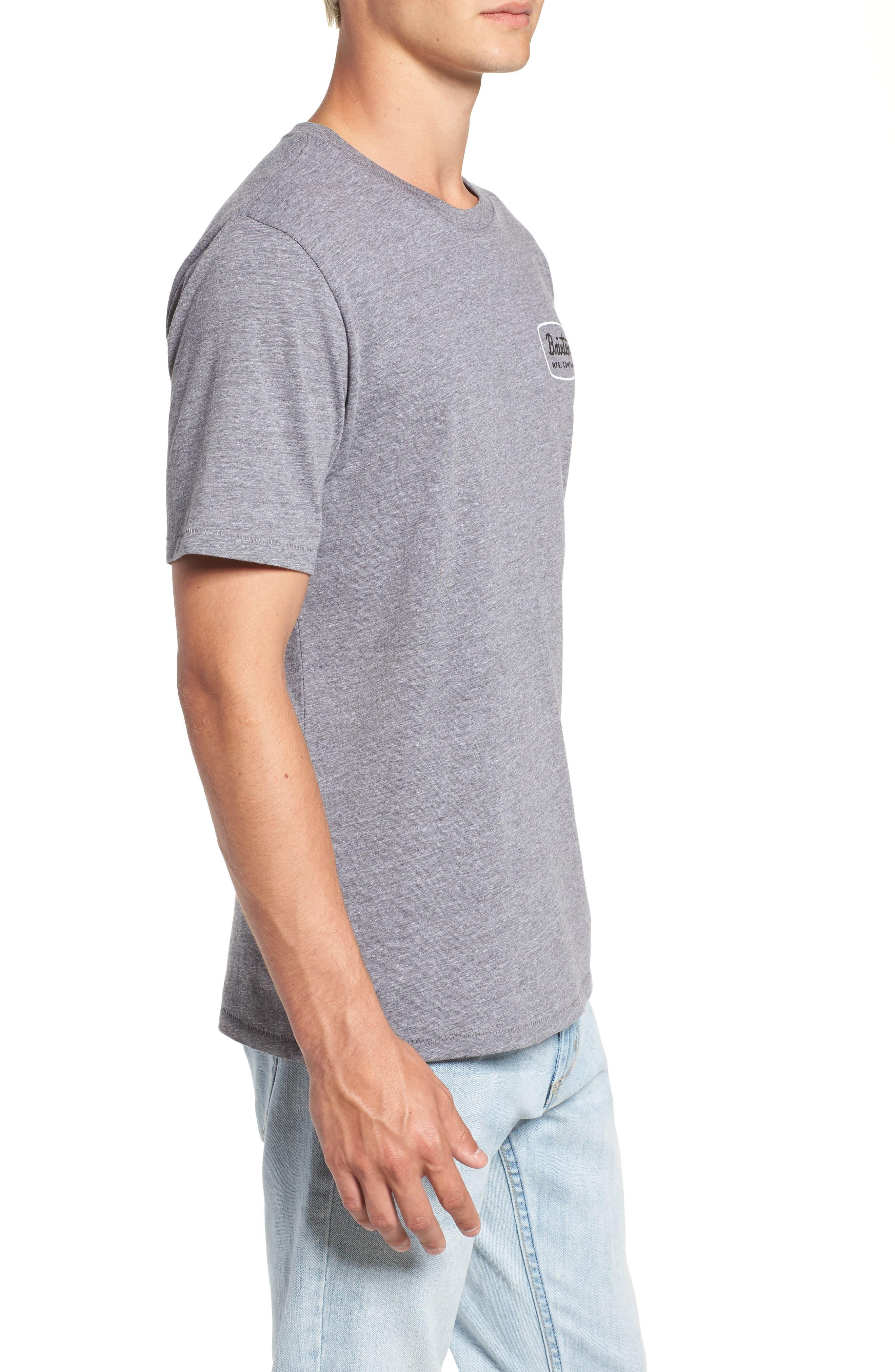 Jolt T-Shirt,                             Alternate thumbnail 3, color,                             HEATHER GREY/ WHITE