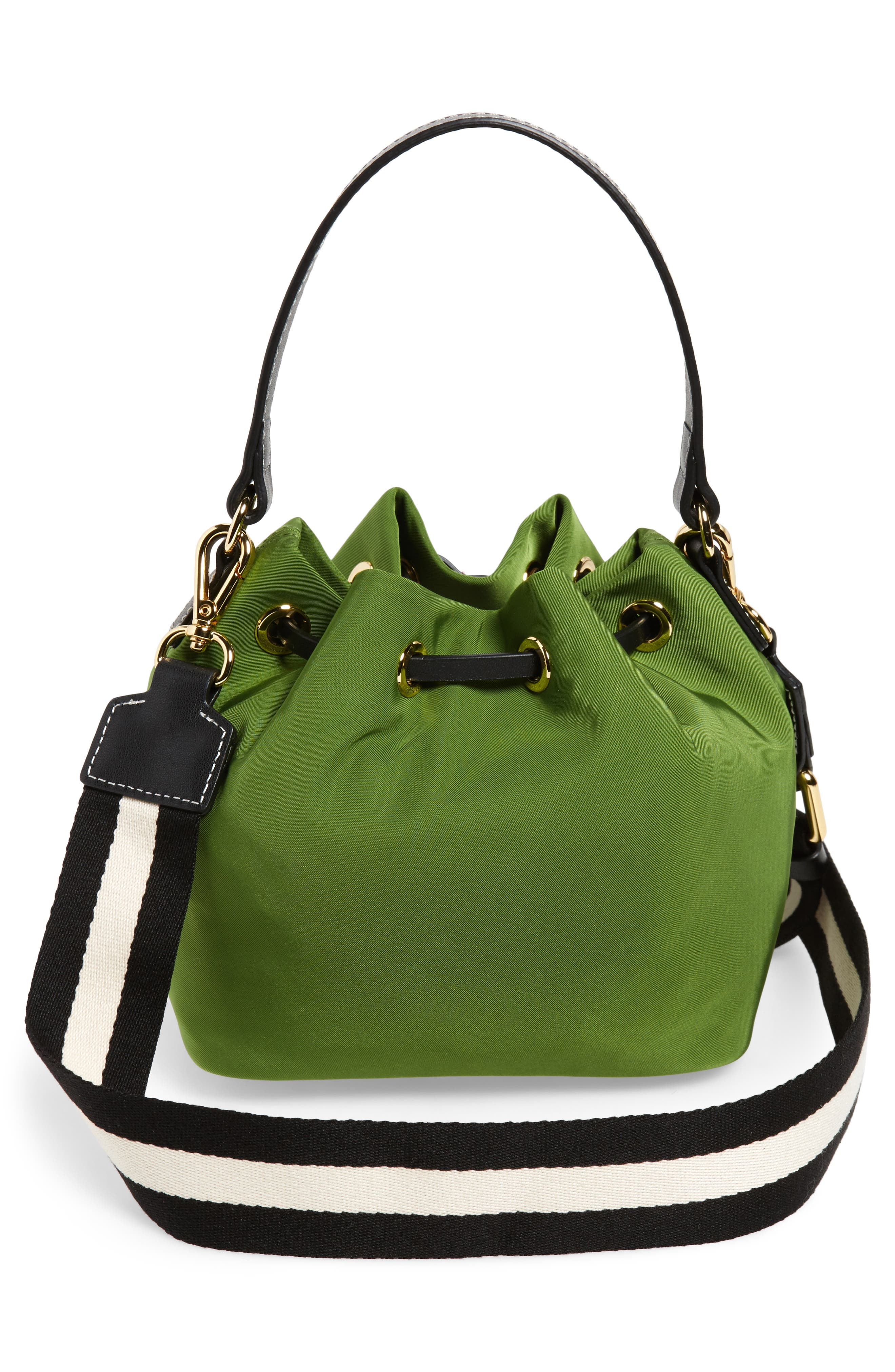 Small Ann Nylon Bucket Bag,                             Alternate thumbnail 7, color,
