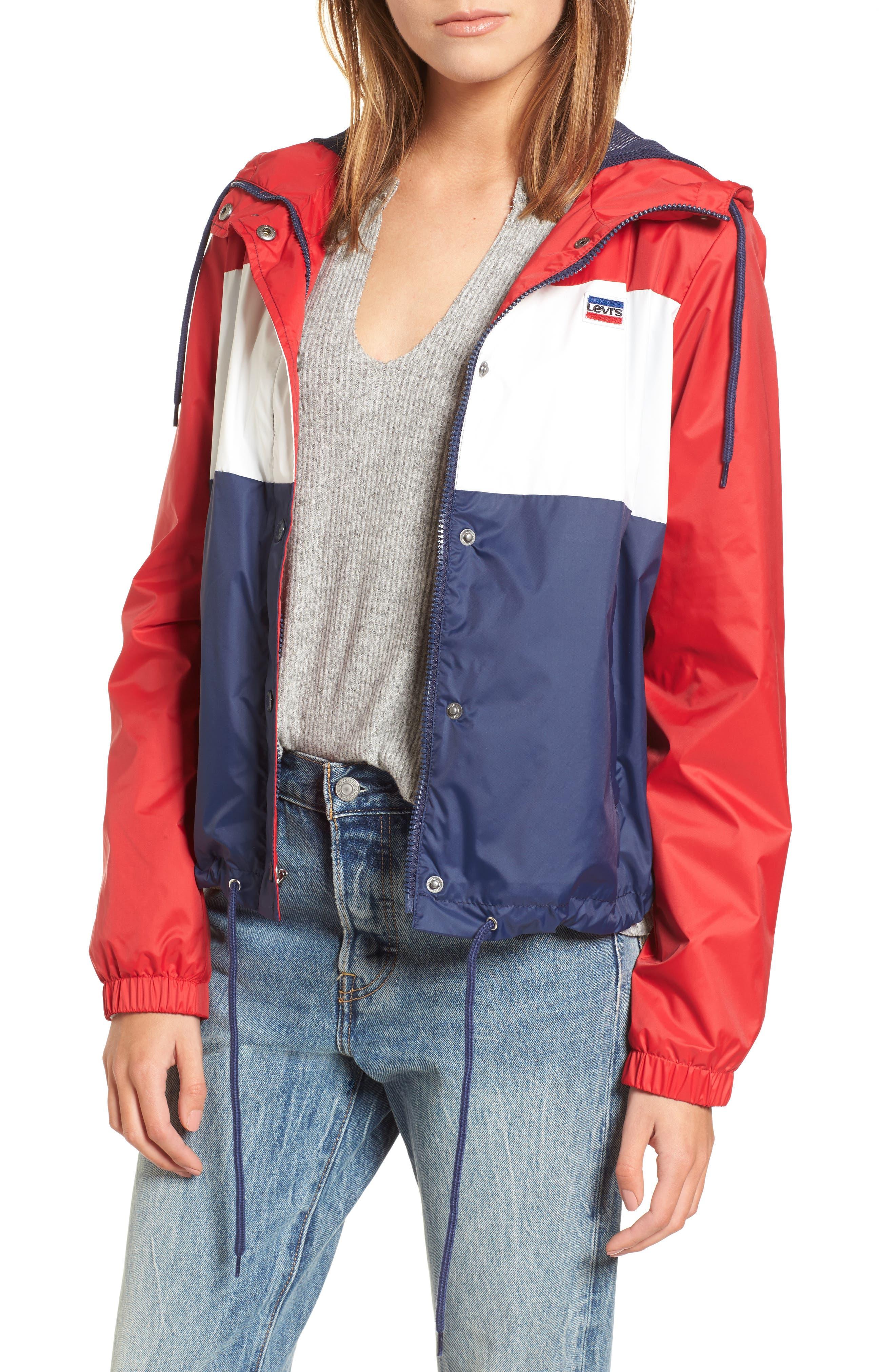 Retro Hooded Coach's Jacket,                             Main thumbnail 3, color,