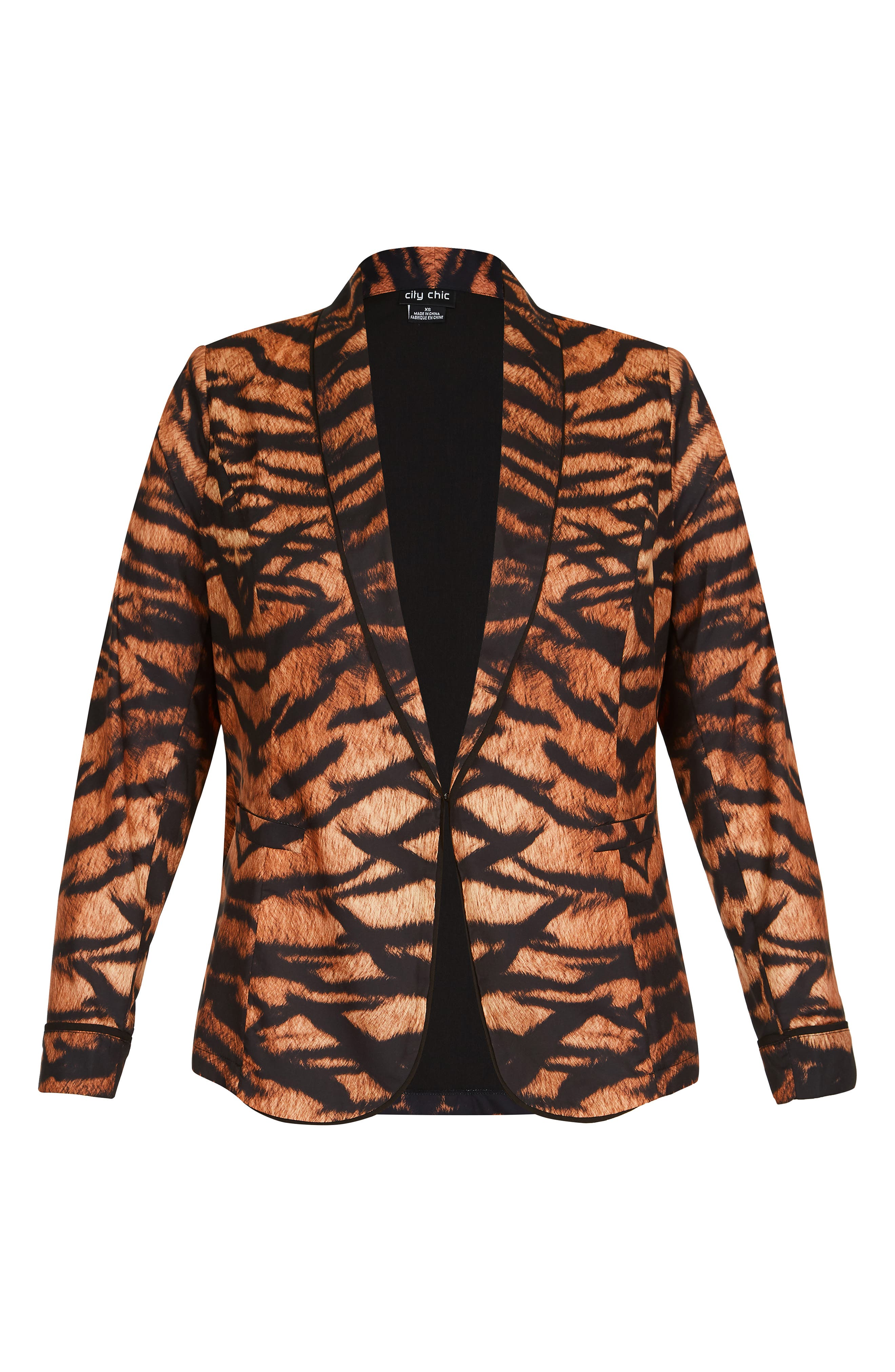 CITY CHIC,                             Tigress Blazer,                             Alternate thumbnail 3, color,                             TIGRESS