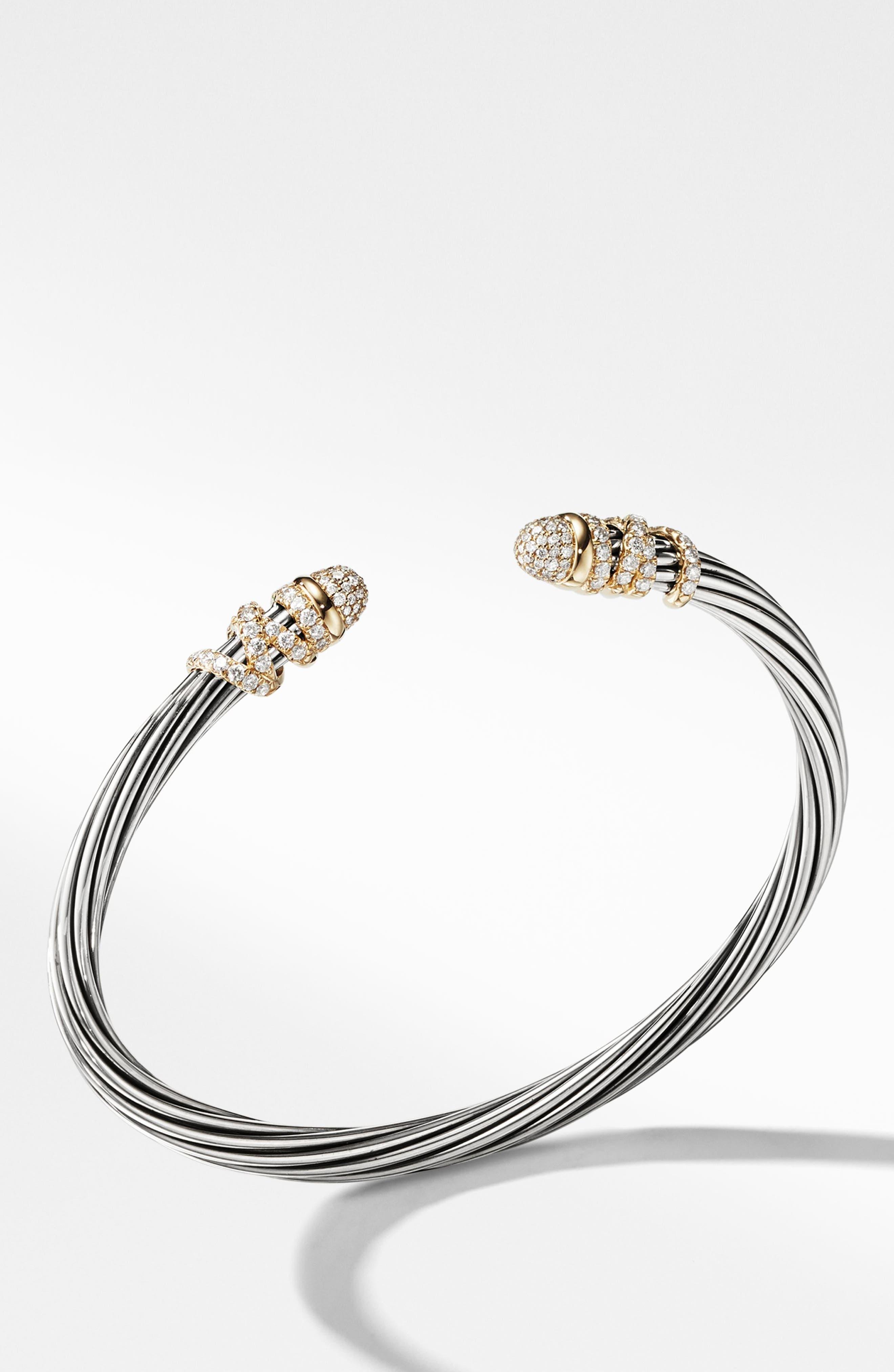 Helena Bracelet with Diamonds,                             Alternate thumbnail 2, color,                             GOLD/ SILVER/ DIAMOND
