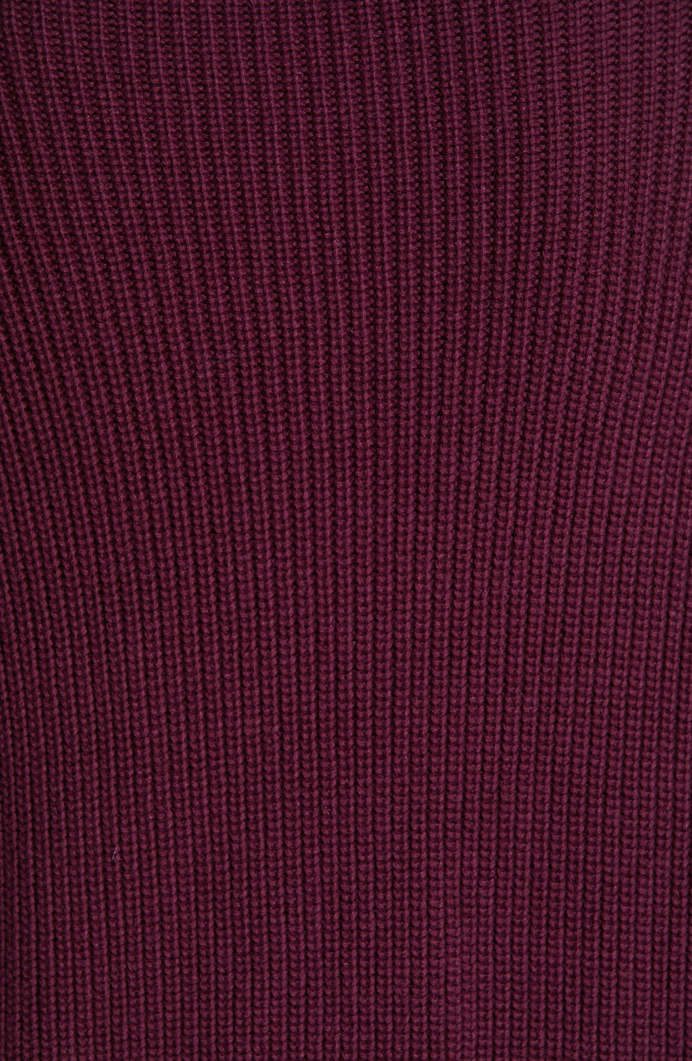 Flix Balloon Sleeve Sweater,                             Alternate thumbnail 5, color,                             DARK BERRY
