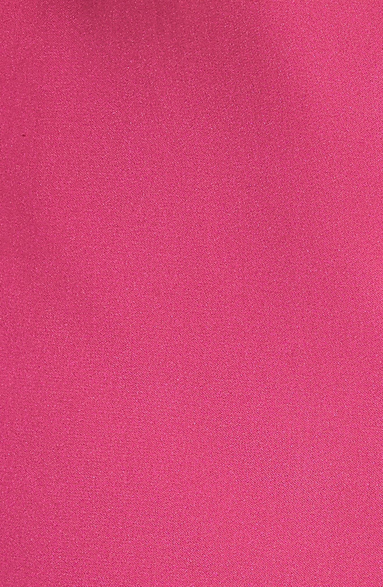 Luna Lace Trim Stretch Silk Slipdress,                             Alternate thumbnail 5, color,                             650